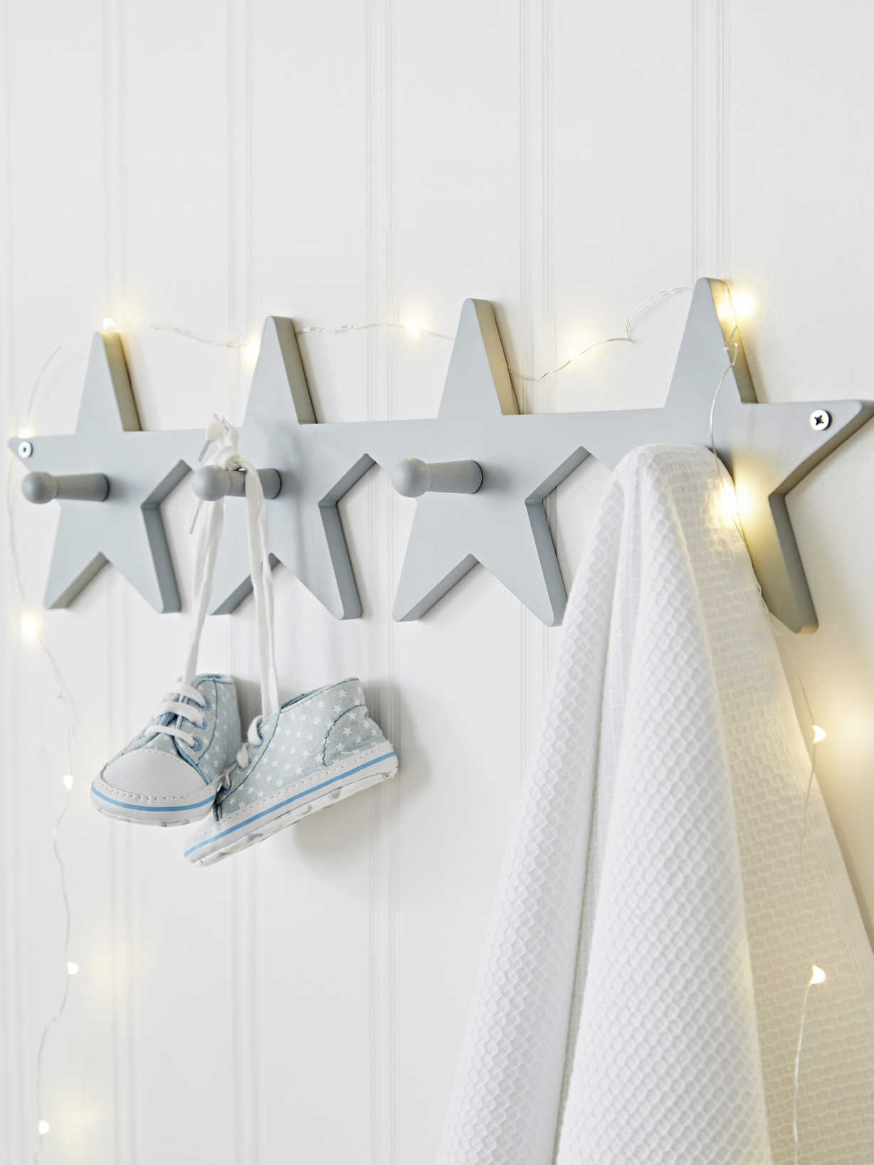 Nordic House Star Coat Rack - Grey