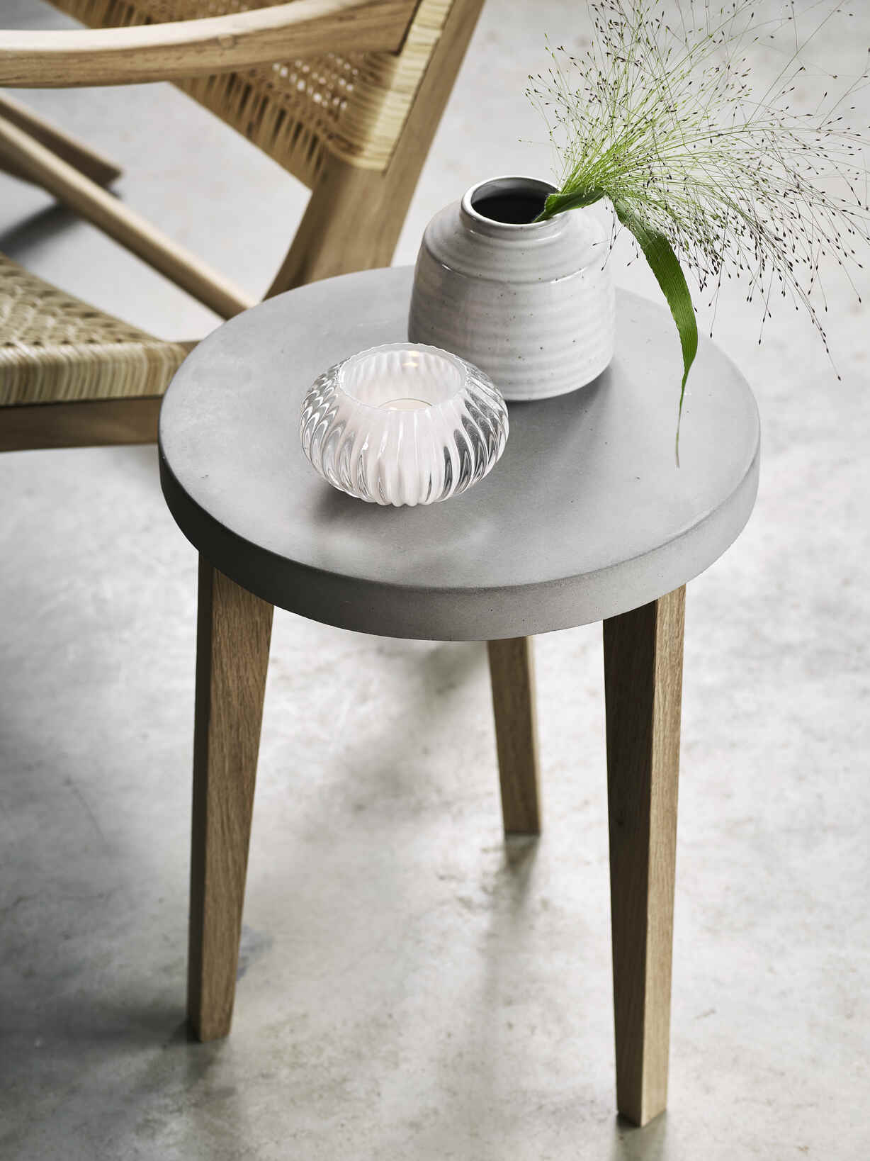 Nordic House Artisan Concrete Side Table