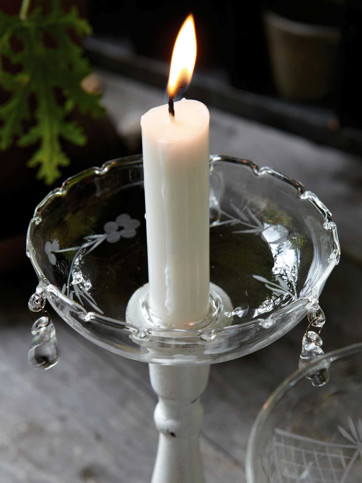 Nordic House Glass Candle Bobeche