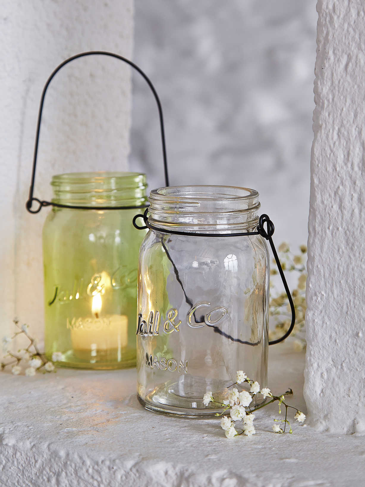 Nordic House Coloured Tealight Jars 1