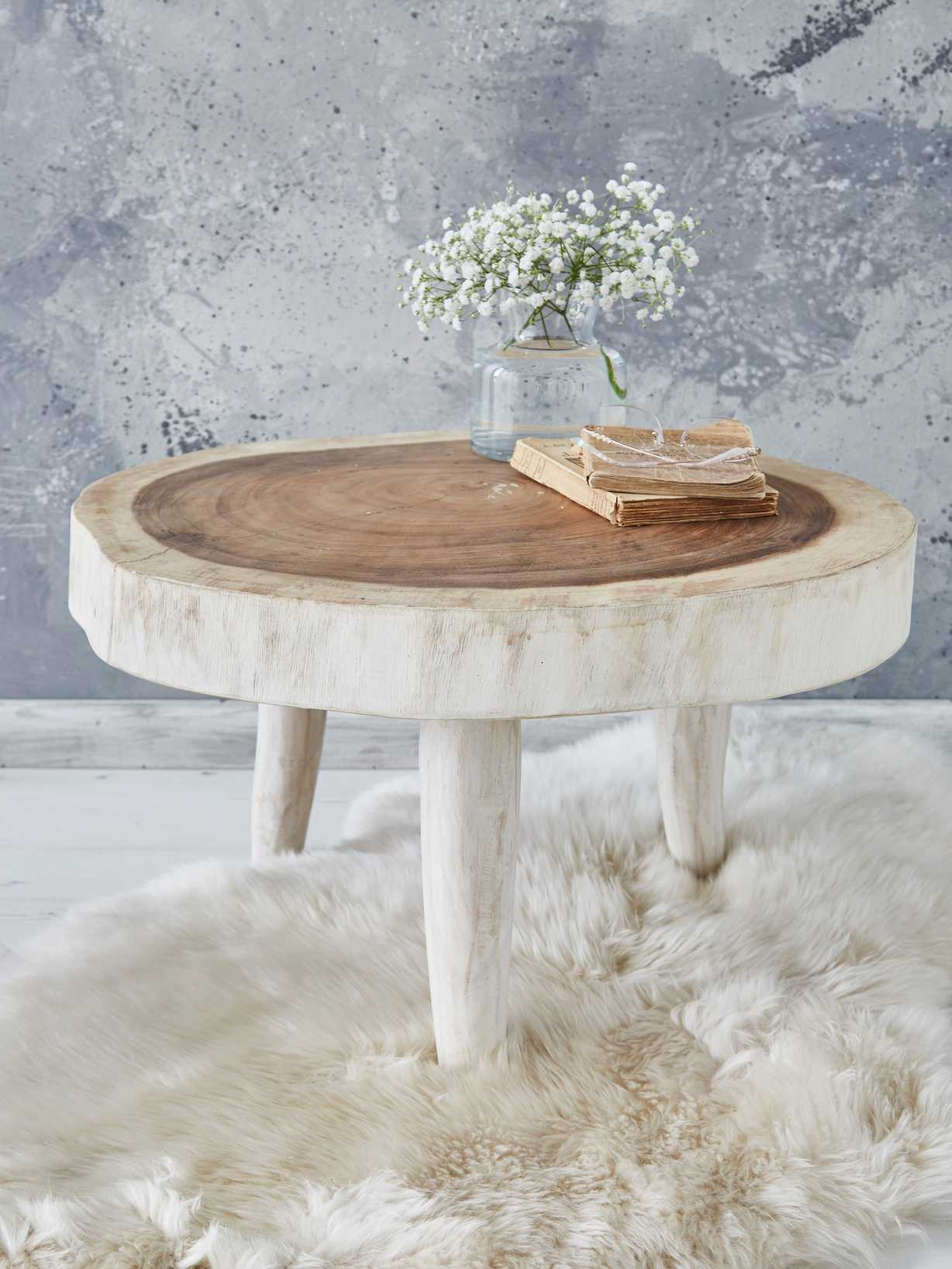 Nordic House Natural Tree Table