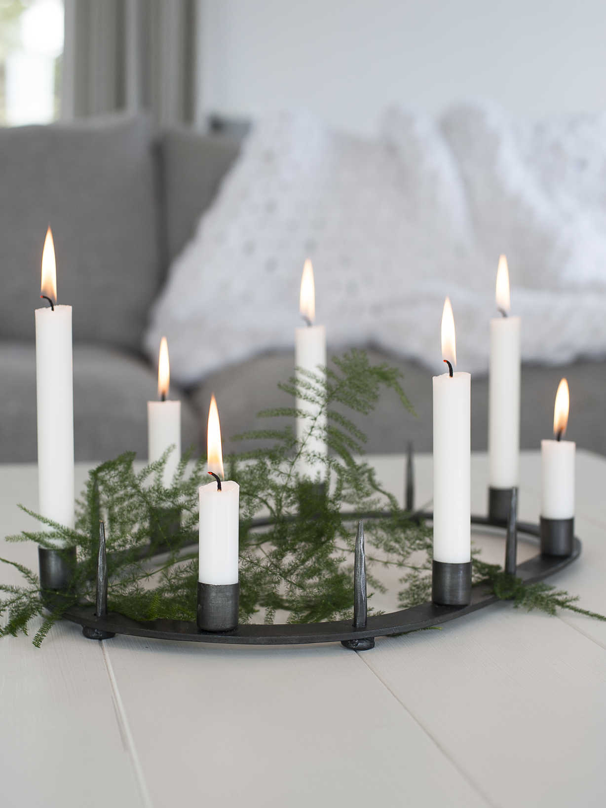 Nordic House Wrought Iron Candle Centrepiece