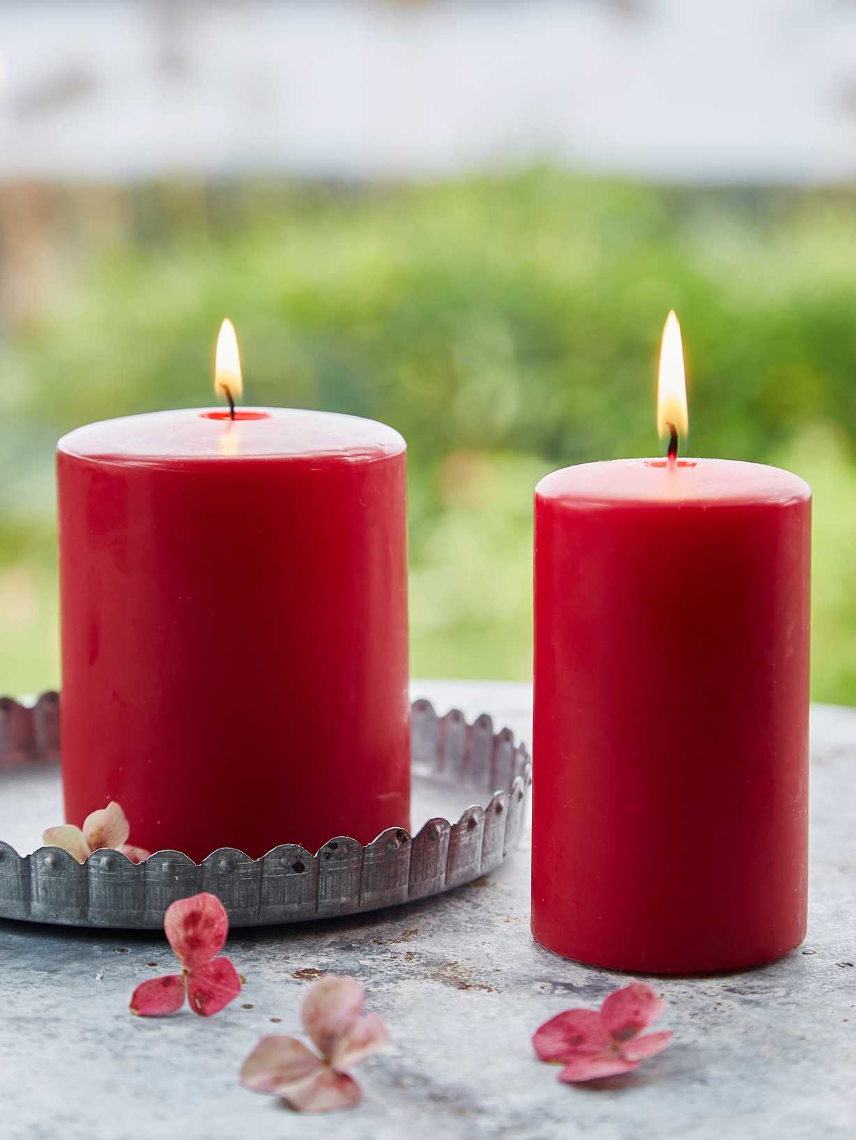 Nordic House Truly Red Pillar Candles
