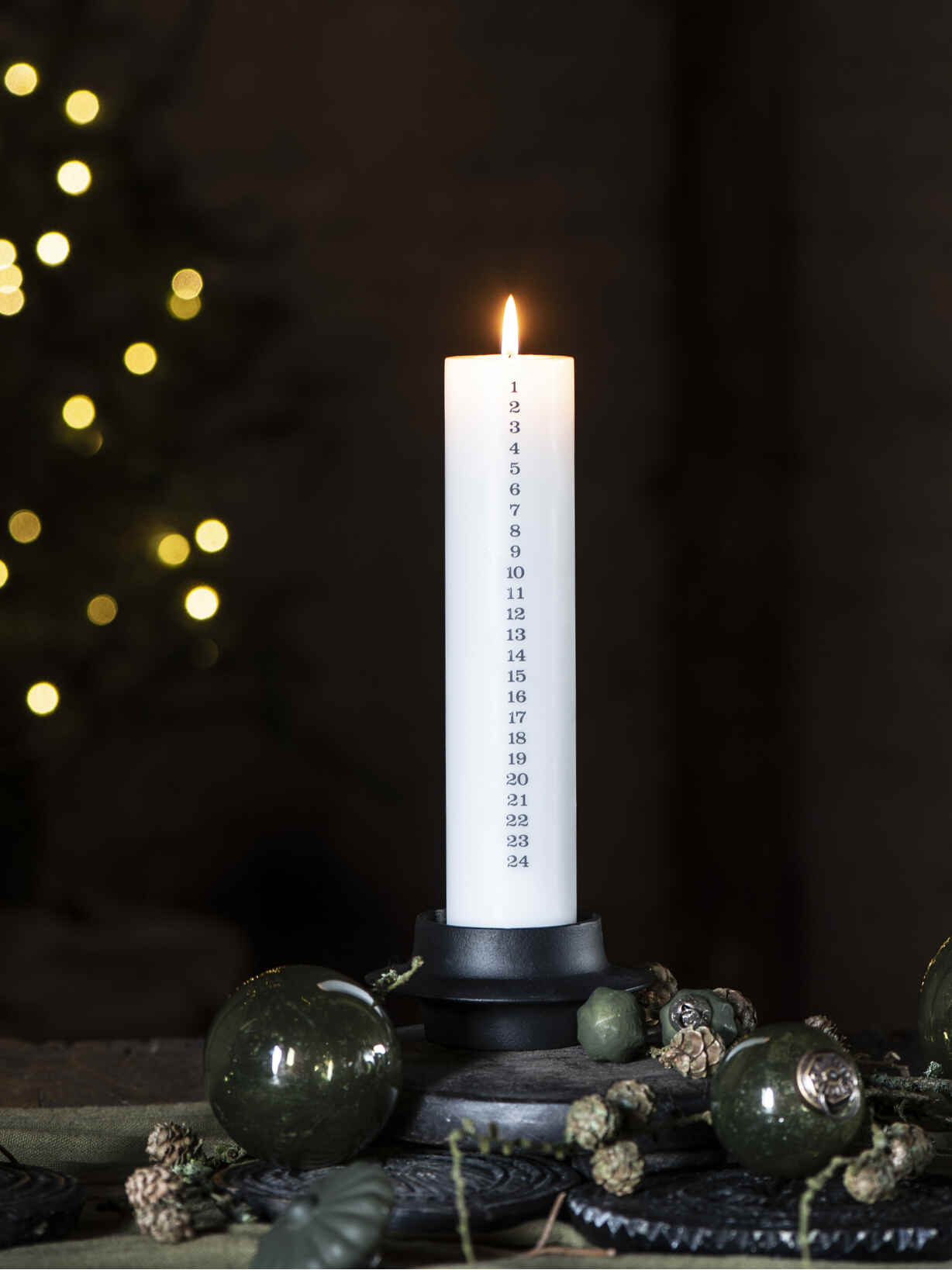 Nordic House White Advent Candle