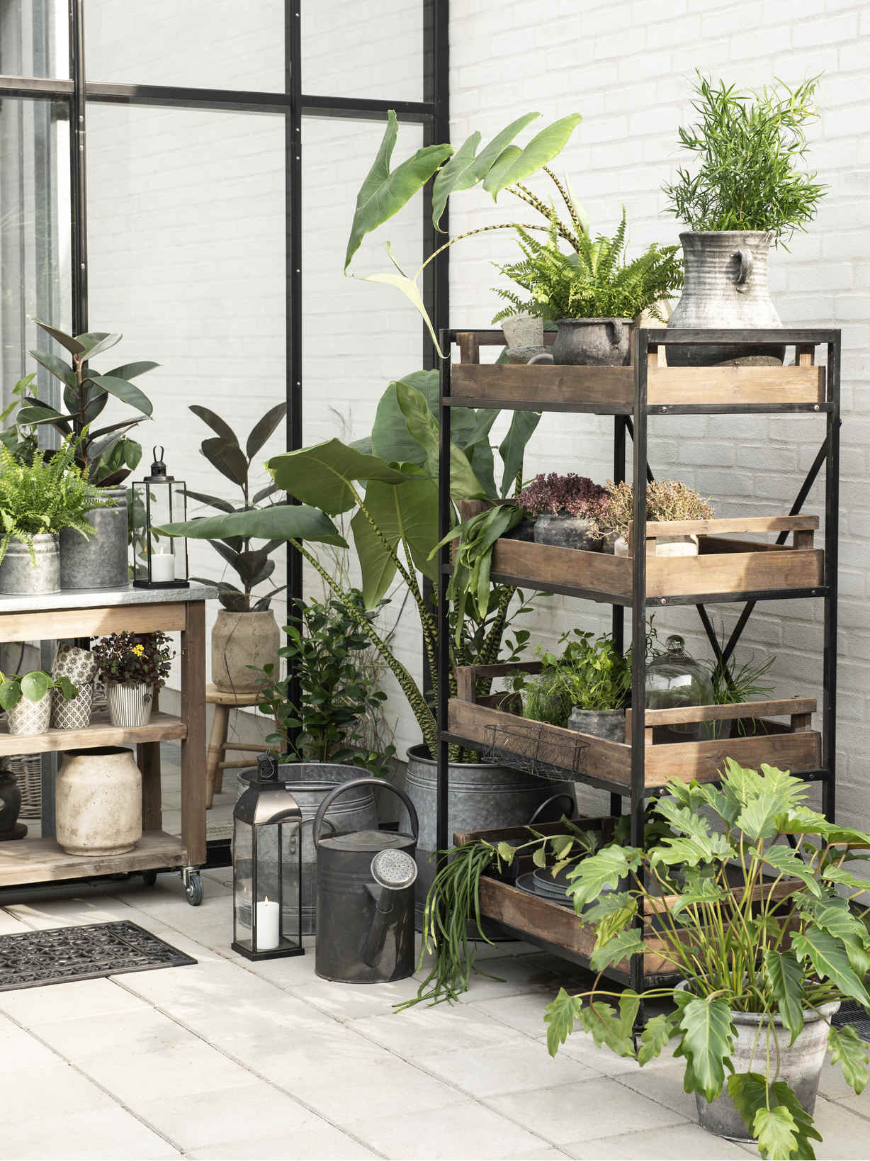 Nordic House Industrial Style Shelf Unit