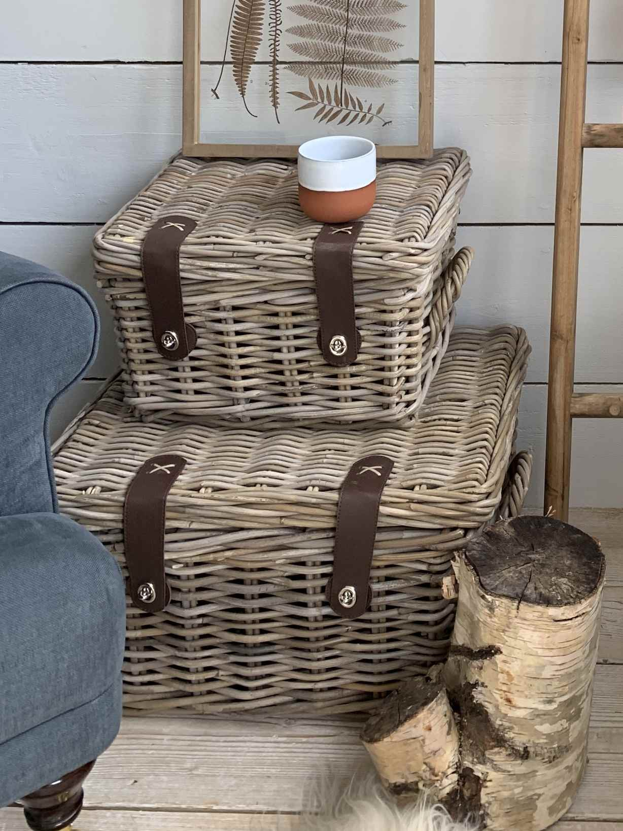Nordic House Rattan Trunk Set