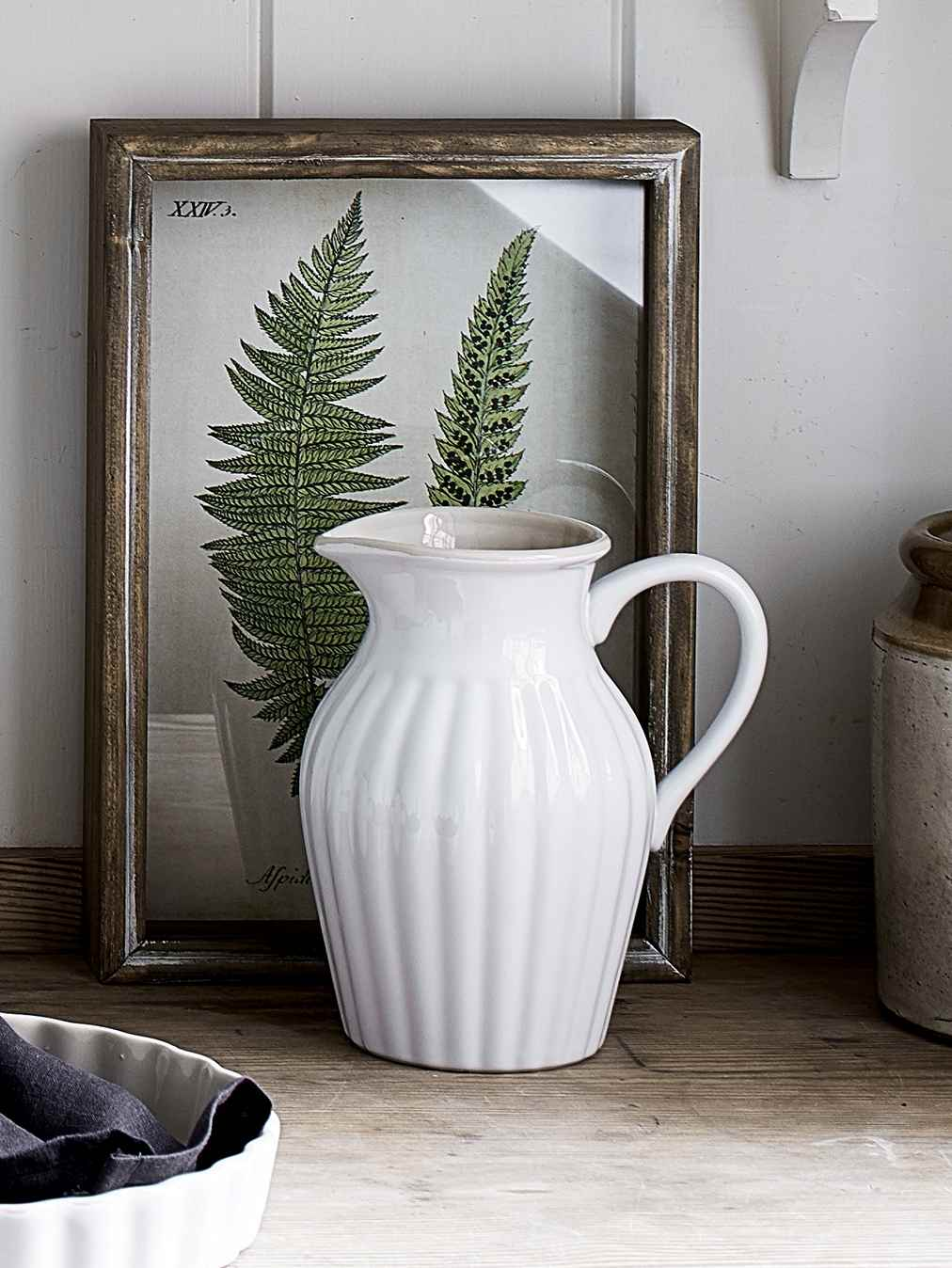 Nordic House White Ceramic Pitcher