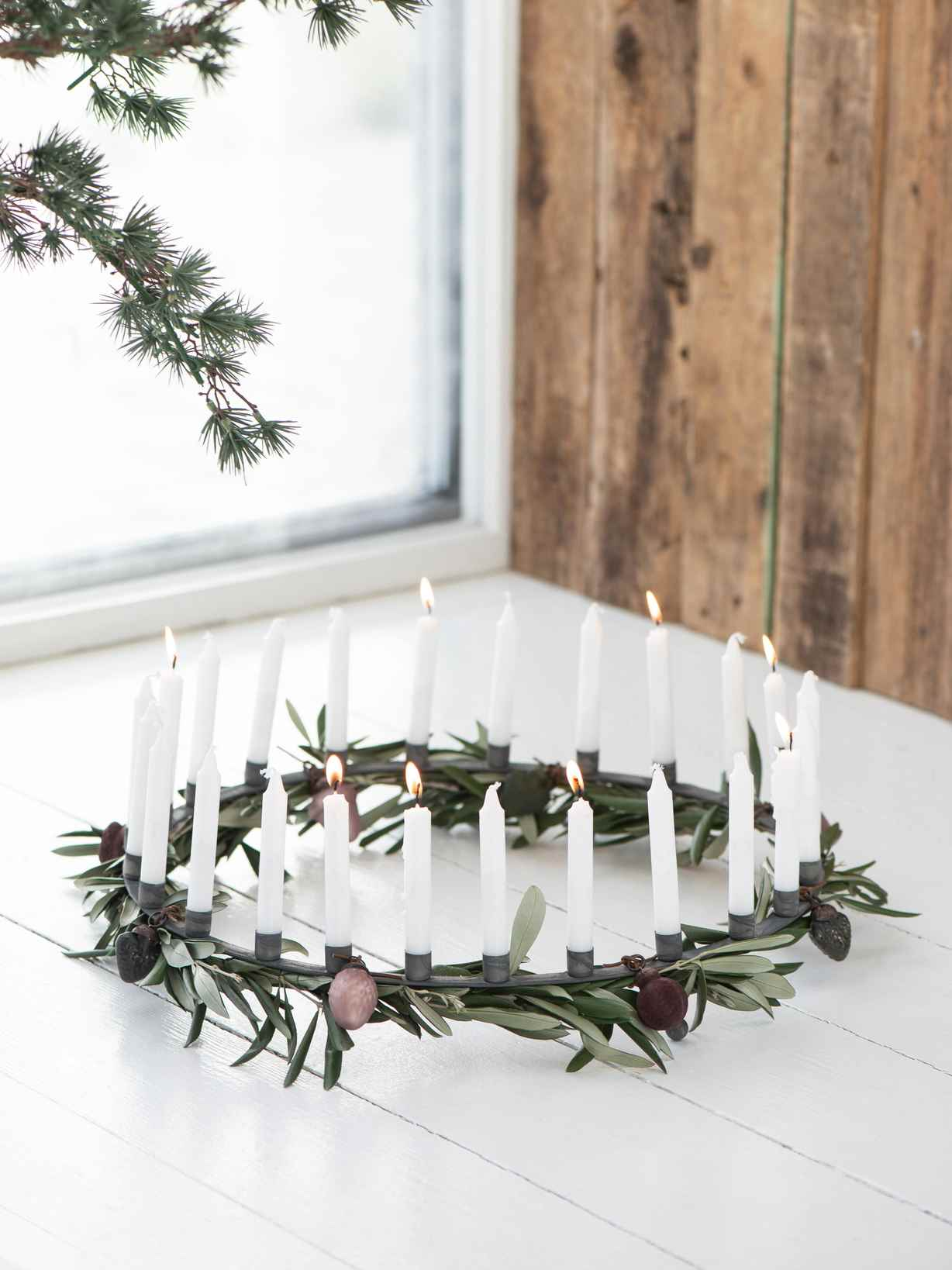 Nordic House Zinc Advent Candle Ring