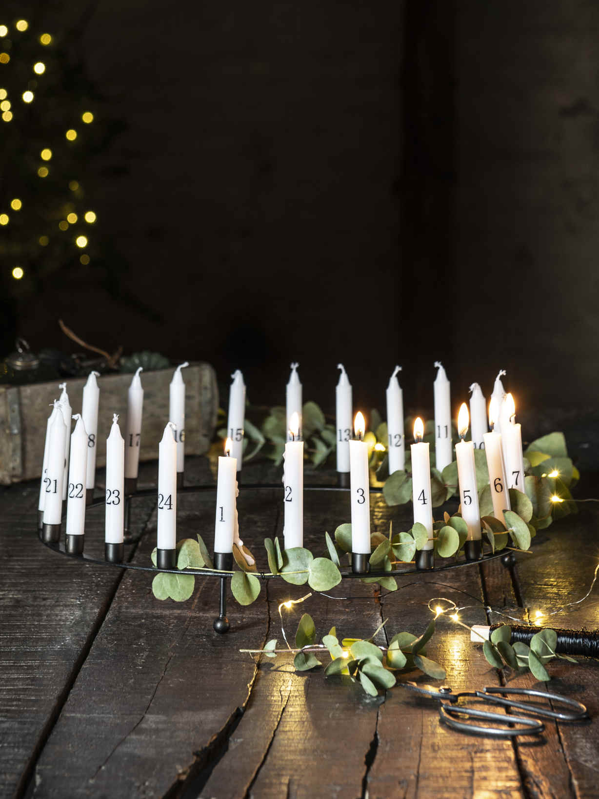 Nordic House Mini Advent Candle Set
