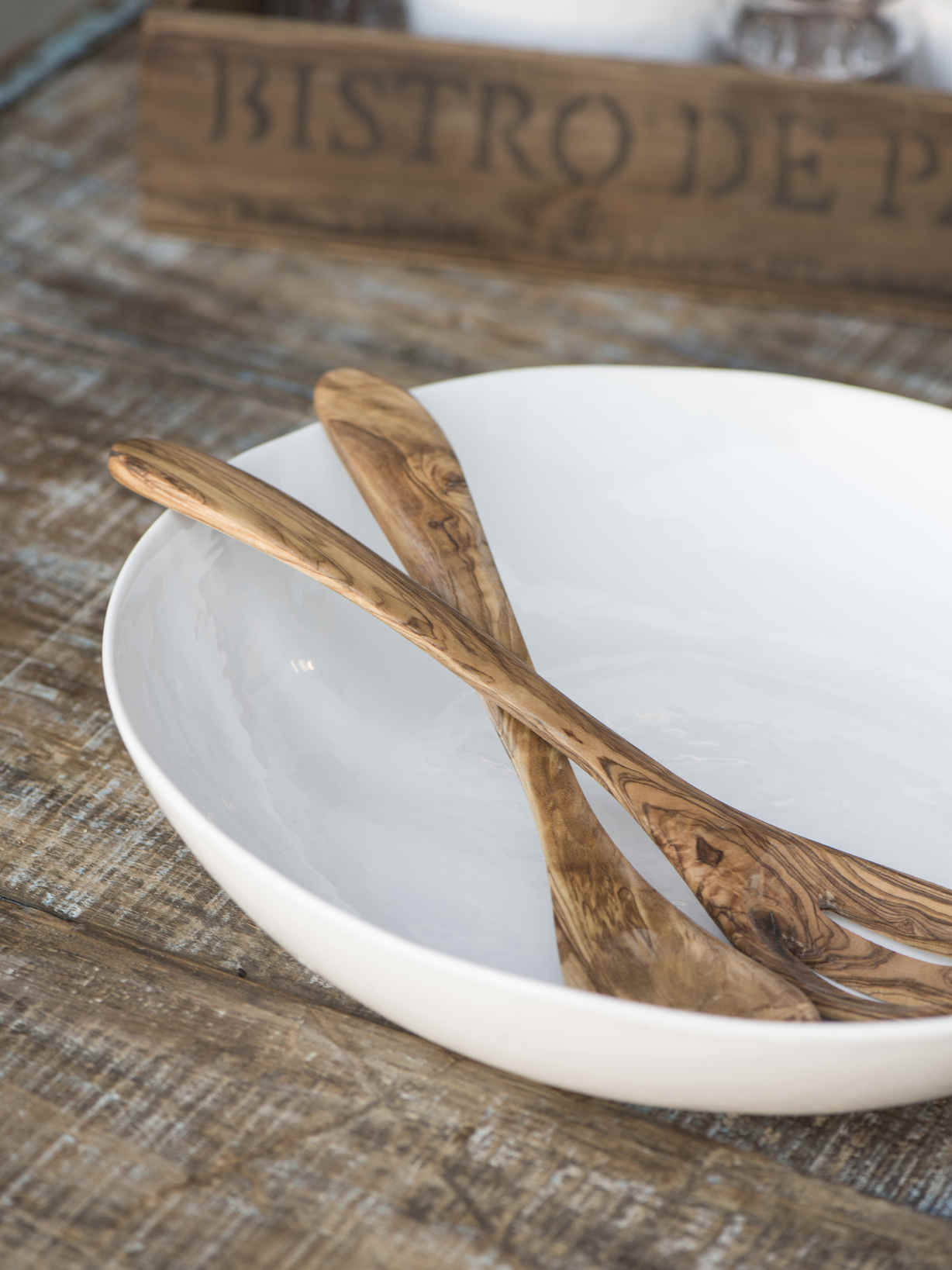 Nordic House Olive Wood Salad Servers