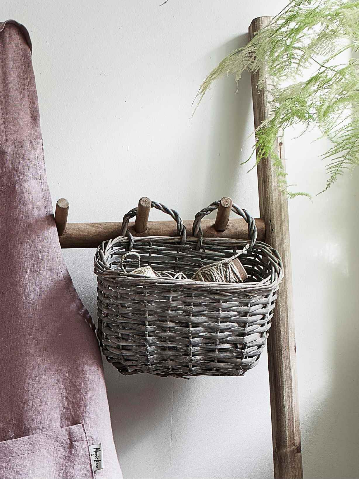 Nordic House Hanging Willow Basket
