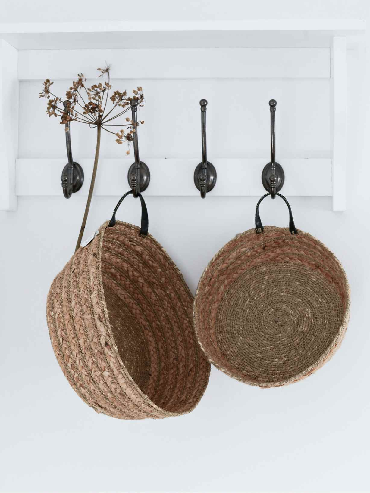 Nordic House Seagrass & Jute Basket Set