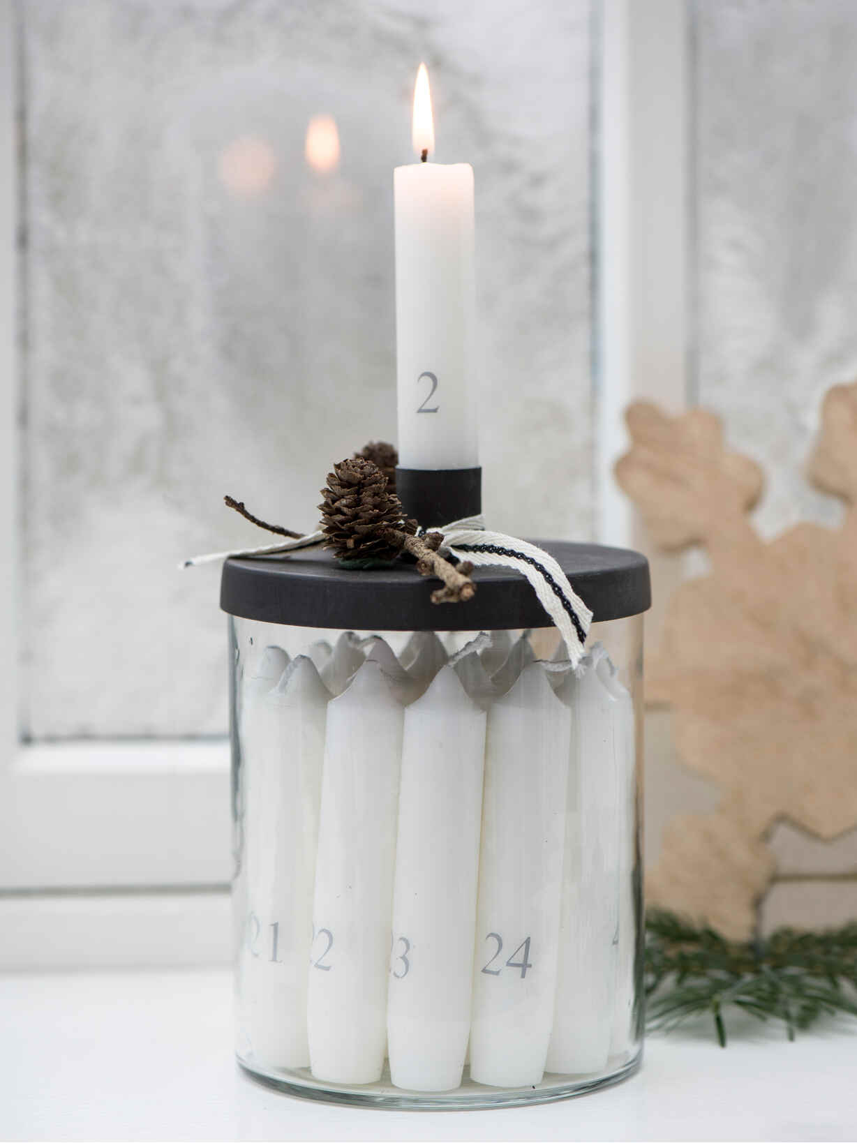 Nordic House Advent Candle Jar Set