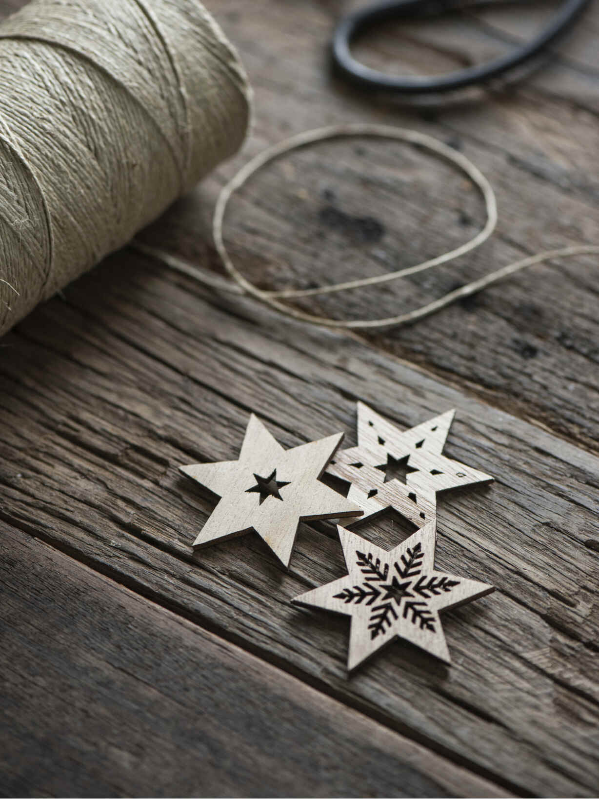 Nordic House Decorative Wooden Star Set