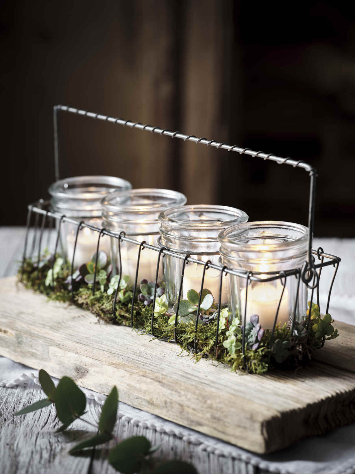 Nordic House Wire & Glass Advent Candle Holder