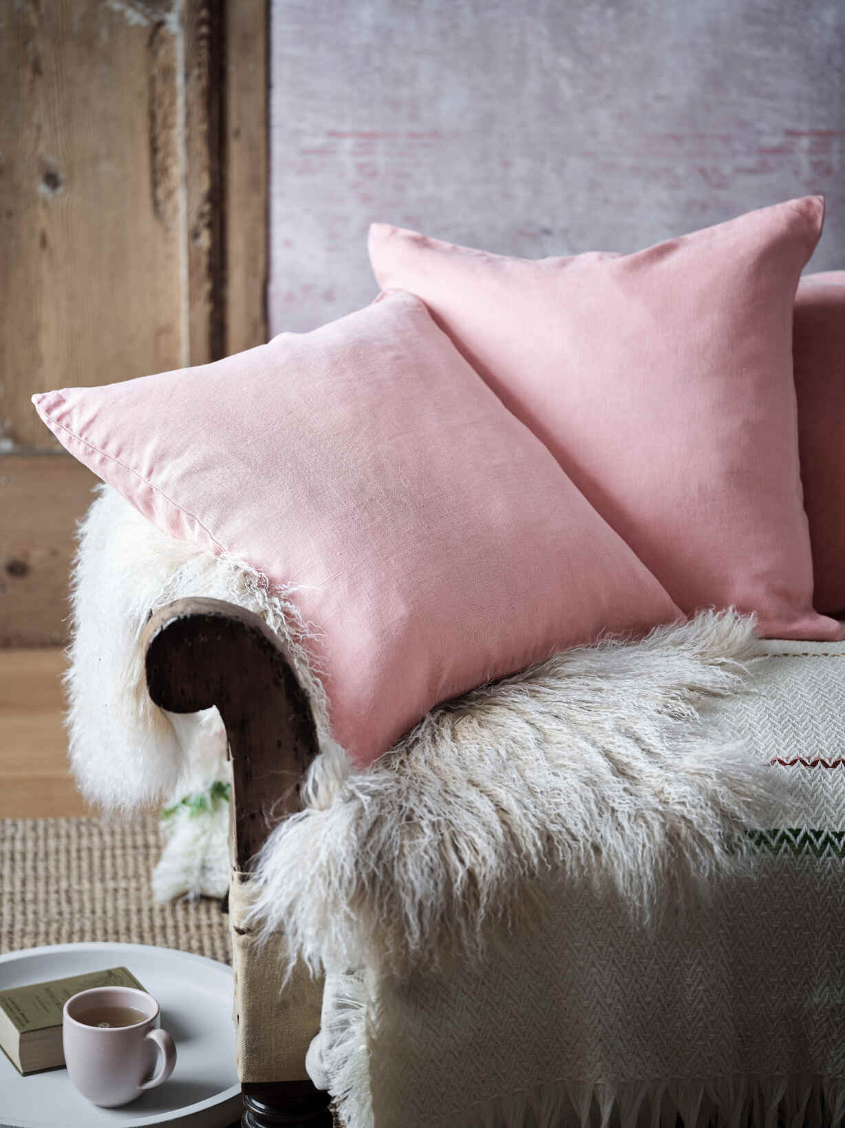 Nordic House Desert Rose Linen Cushion