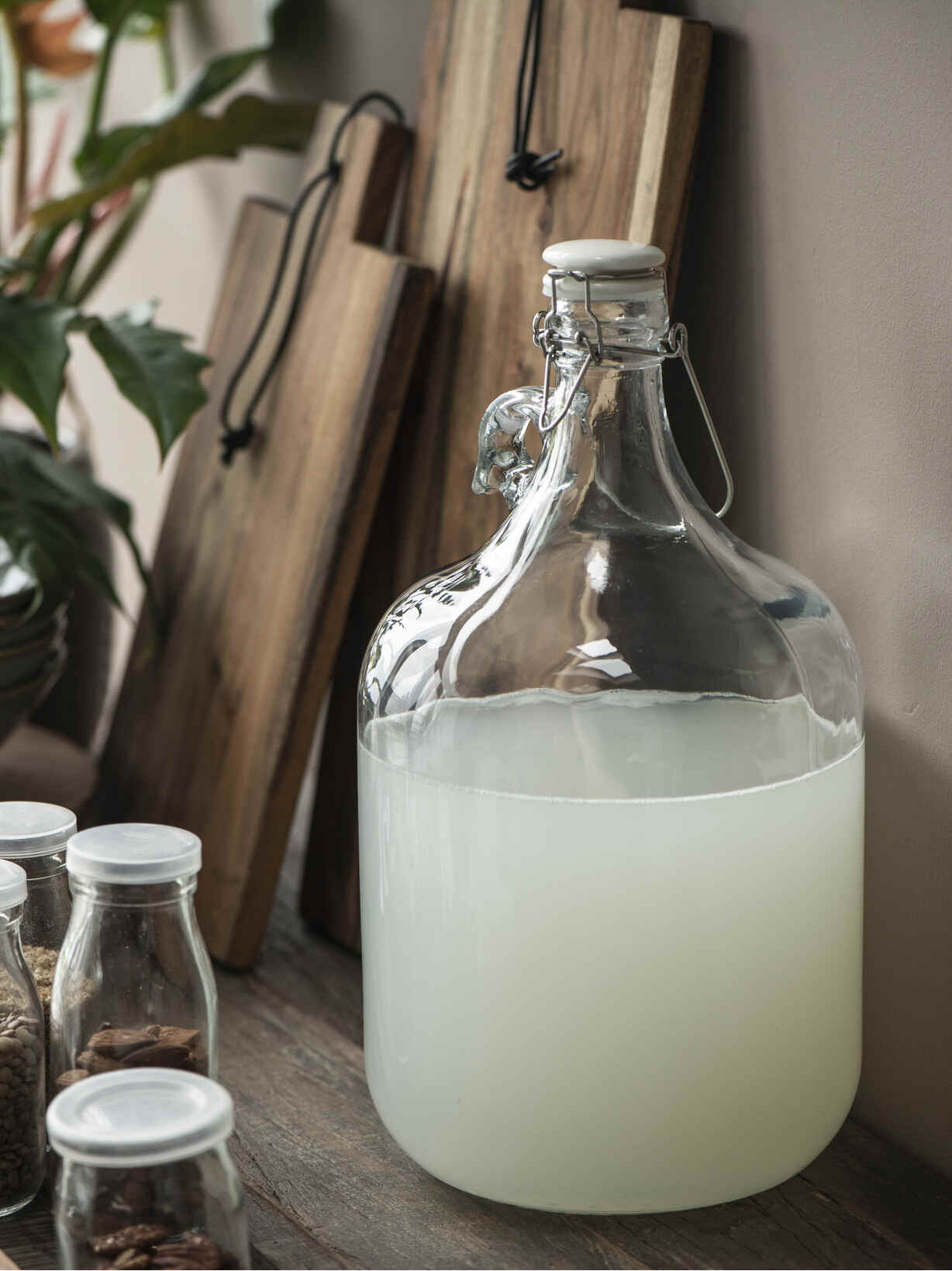 Nordic House Large Glass Bottle