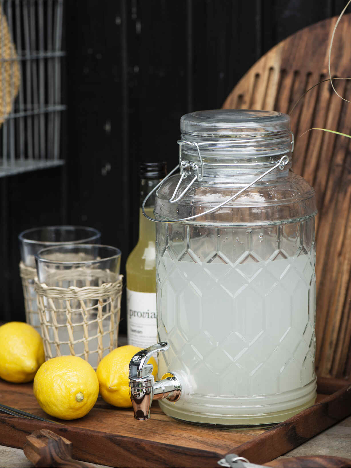 Nordic House Recycled Glass Drinks Dispenser