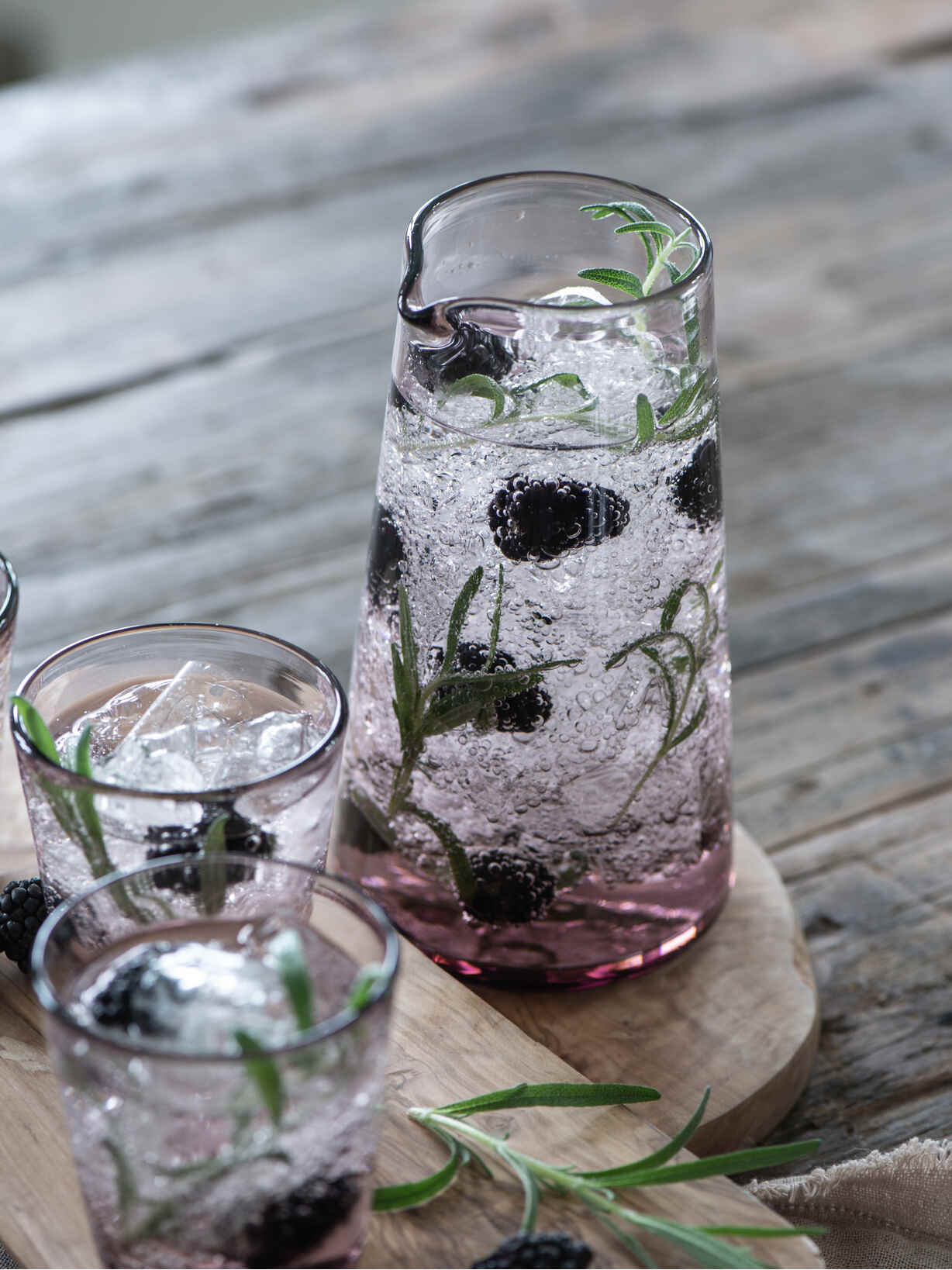 Nordic House Rose Tinted Glass Pitcher