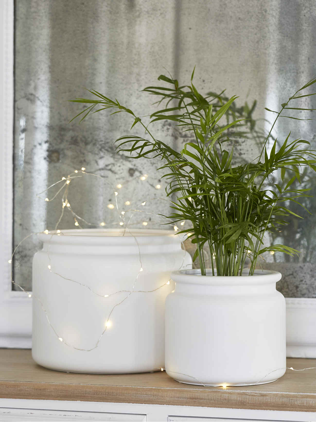 Nordic House White Ceramic Planters
