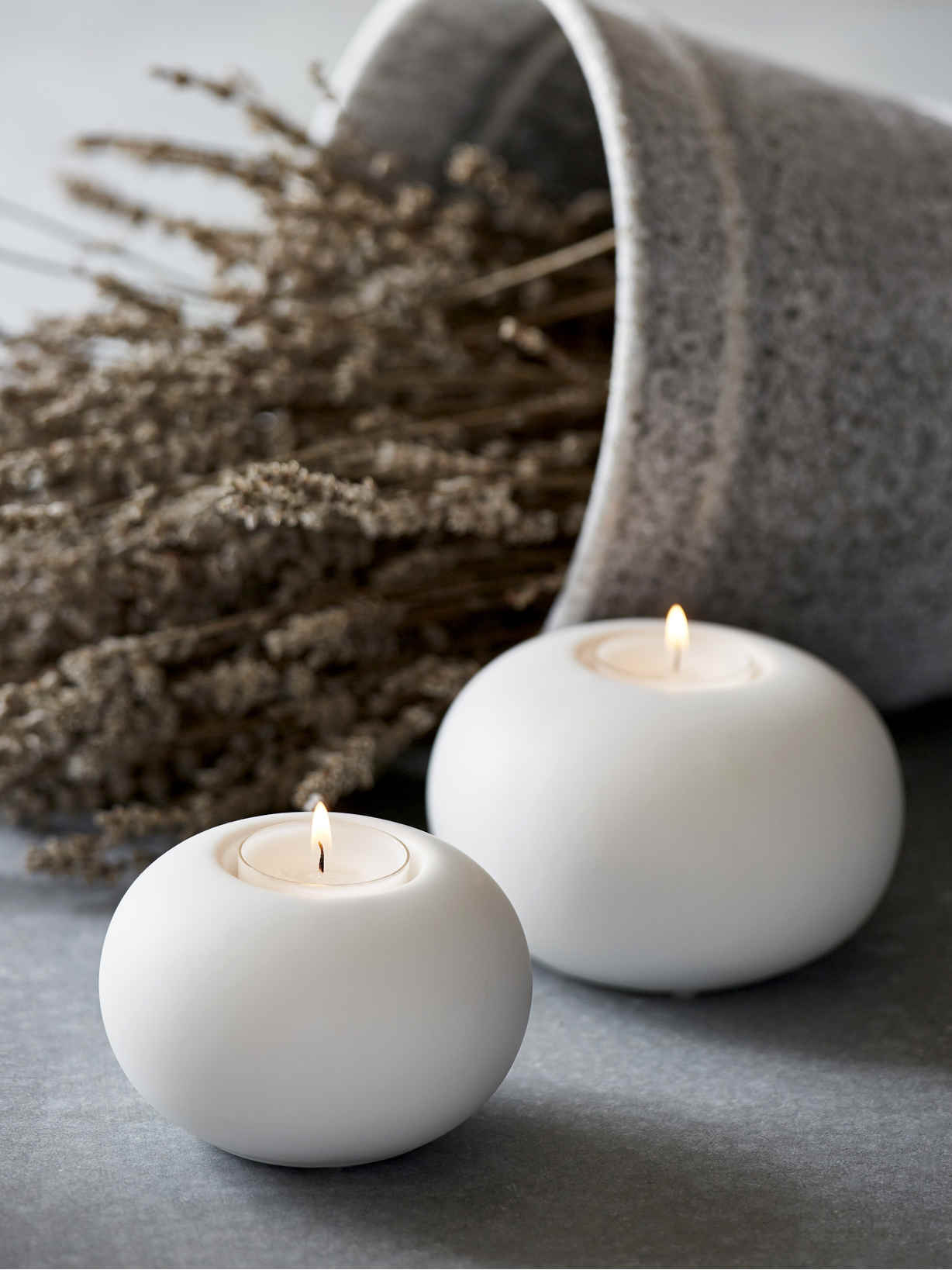 Nordic House Nordic White Tealight Holders
