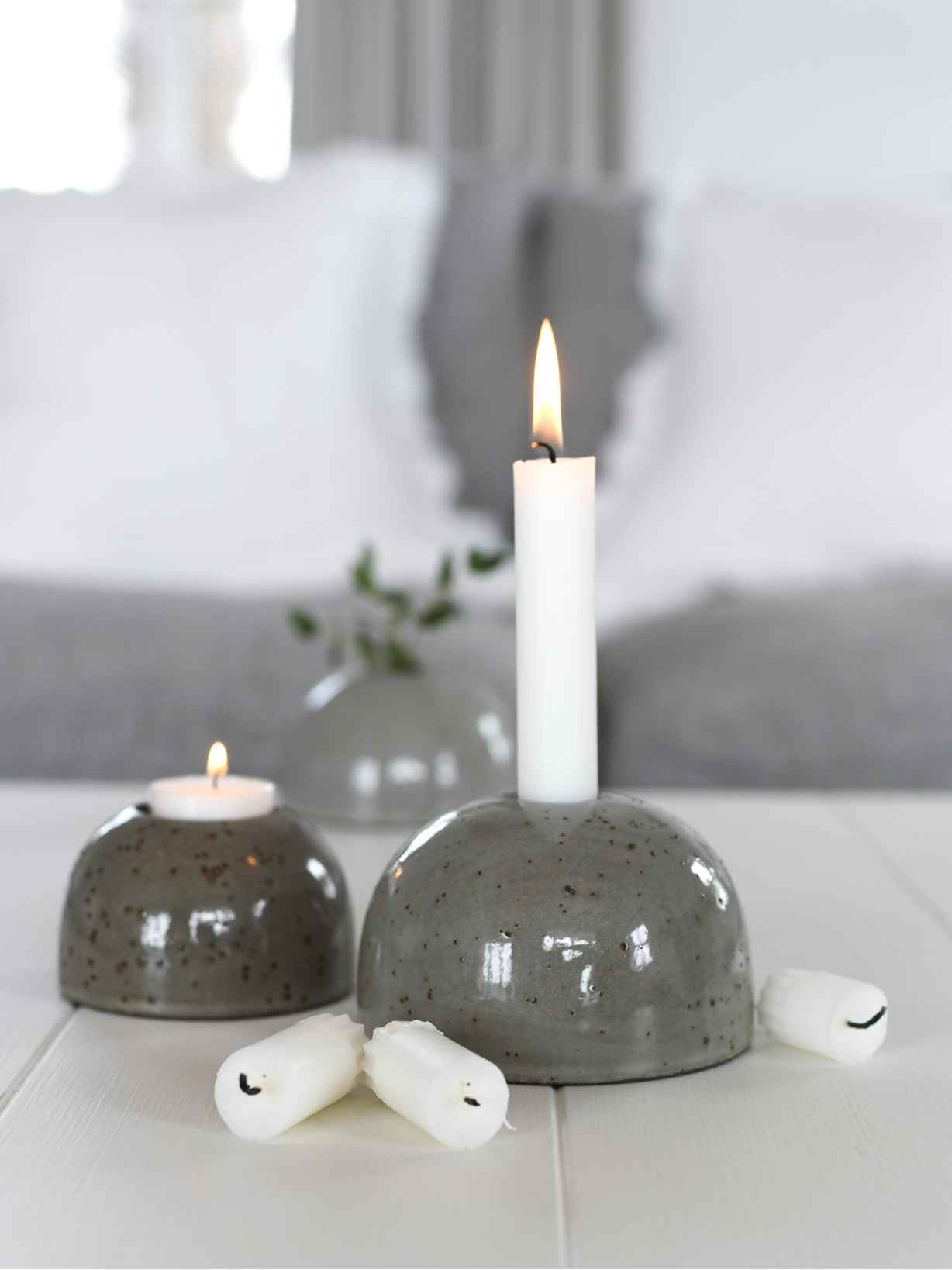 Nordic House Sten Candle Holders