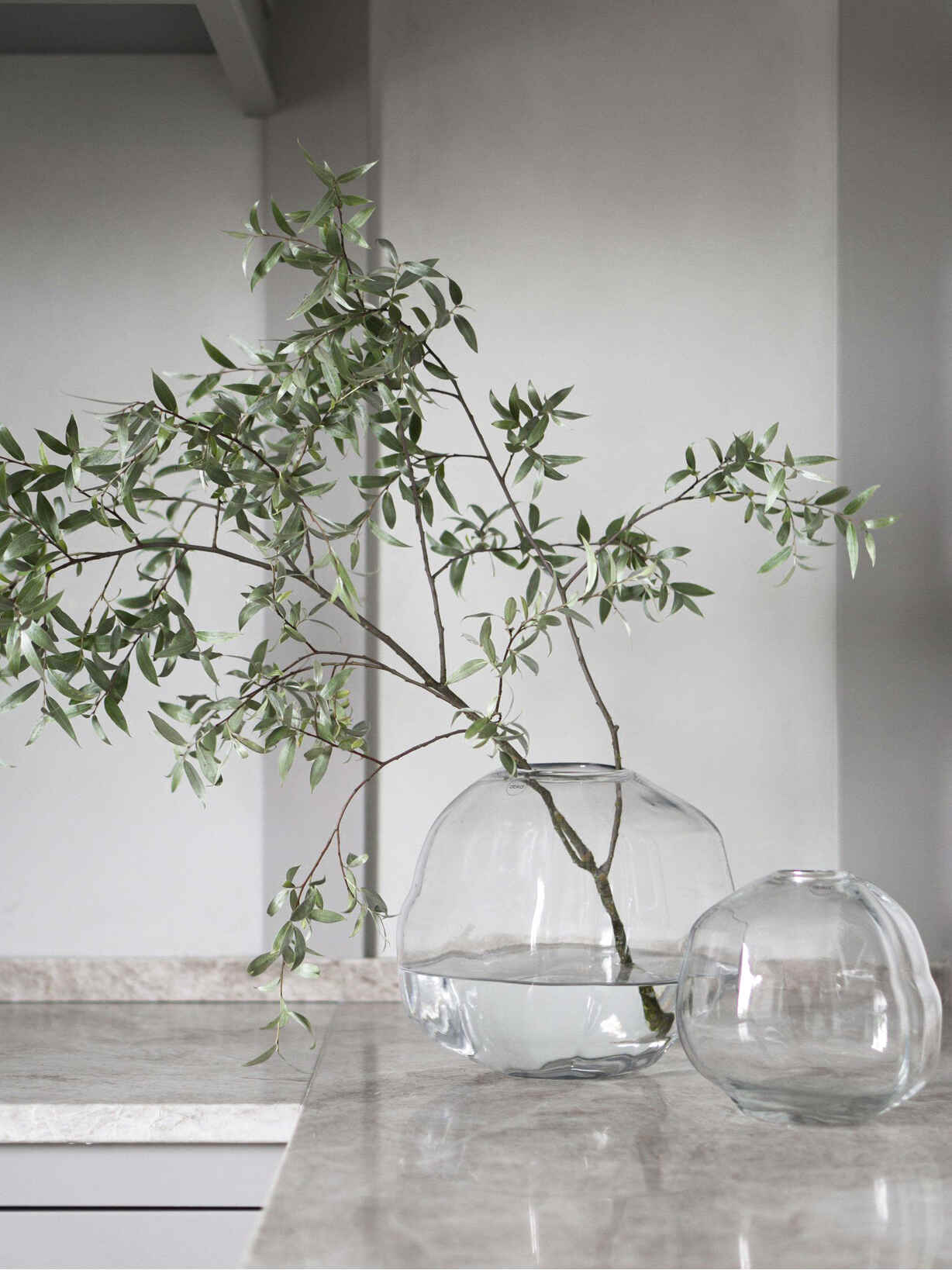 Nordic House Organic Recycled Bottle Vases