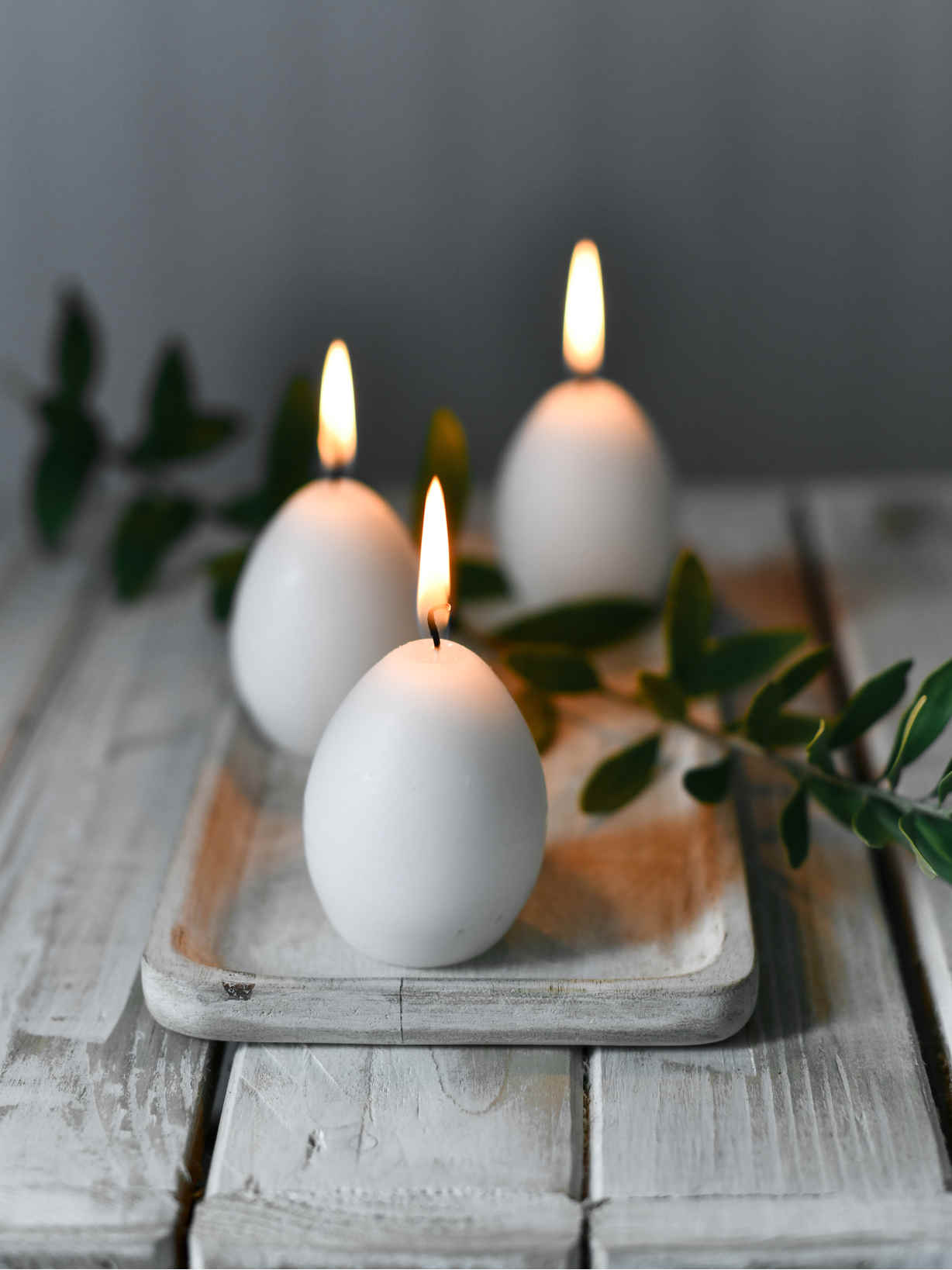 Nordic House Egg Candle Set