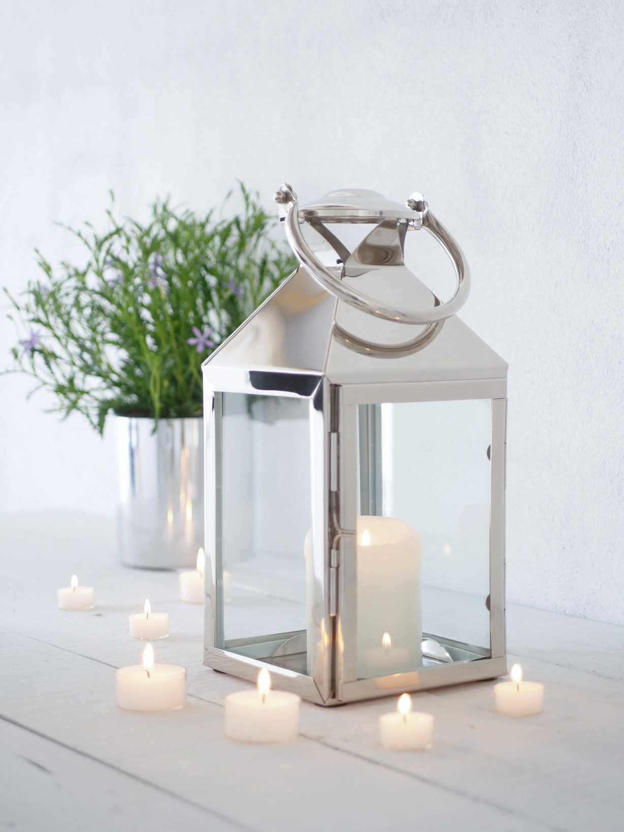 Nordic House Stainless Steel Candle Lantern