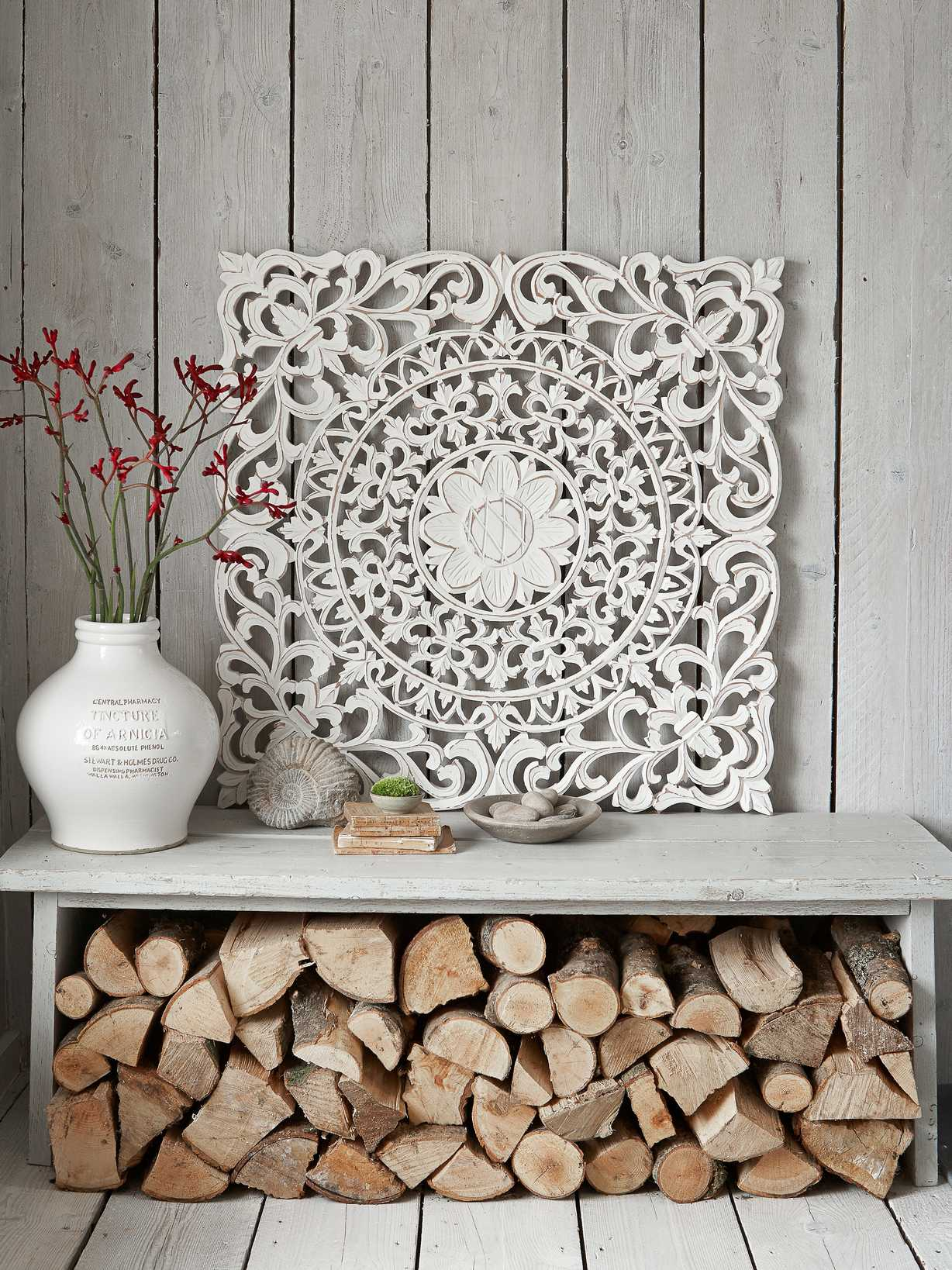 Nordic House Large Carved Wall Panel - Aina