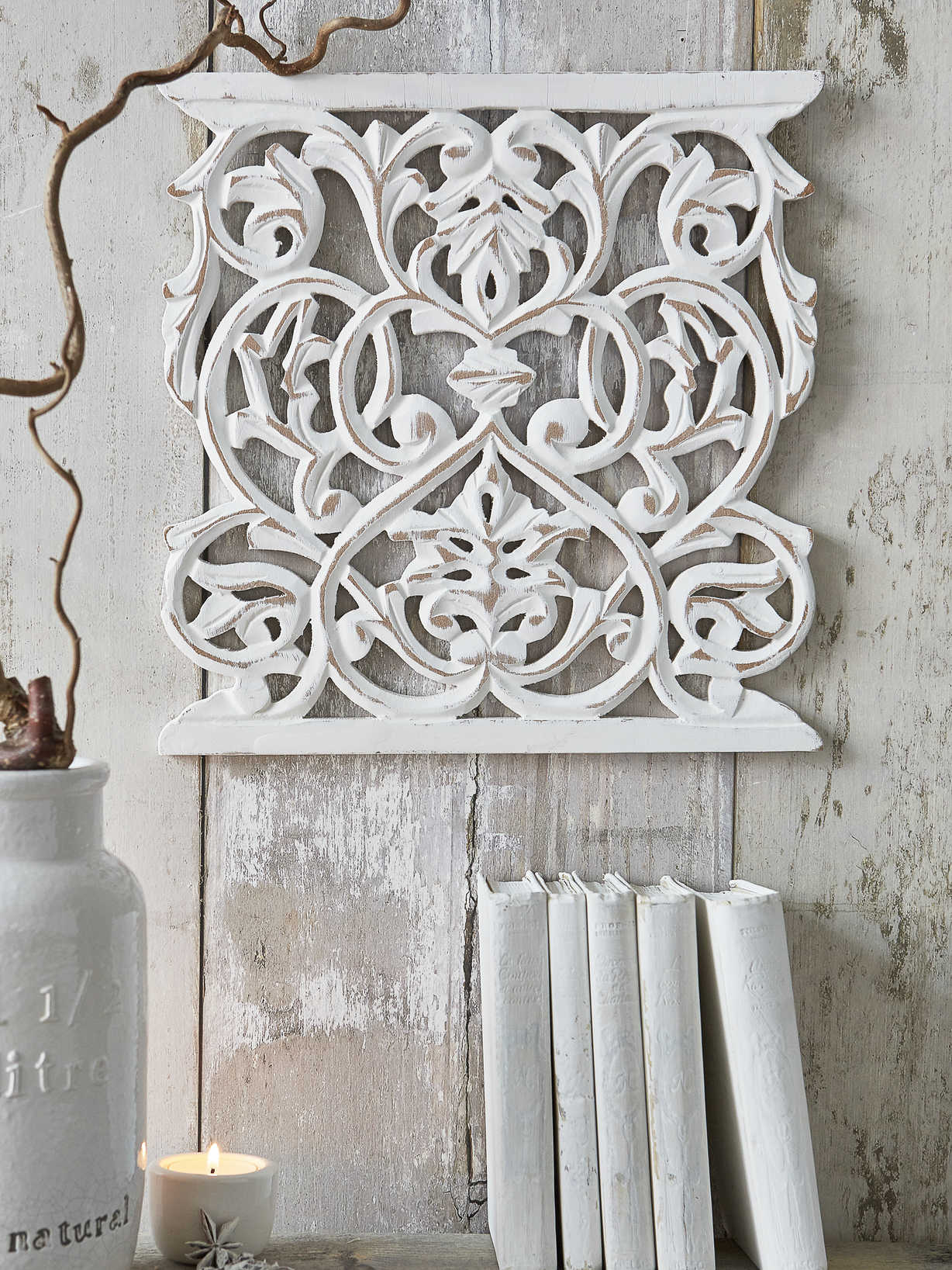 Nordic House Carved Wall Panel - Maddie