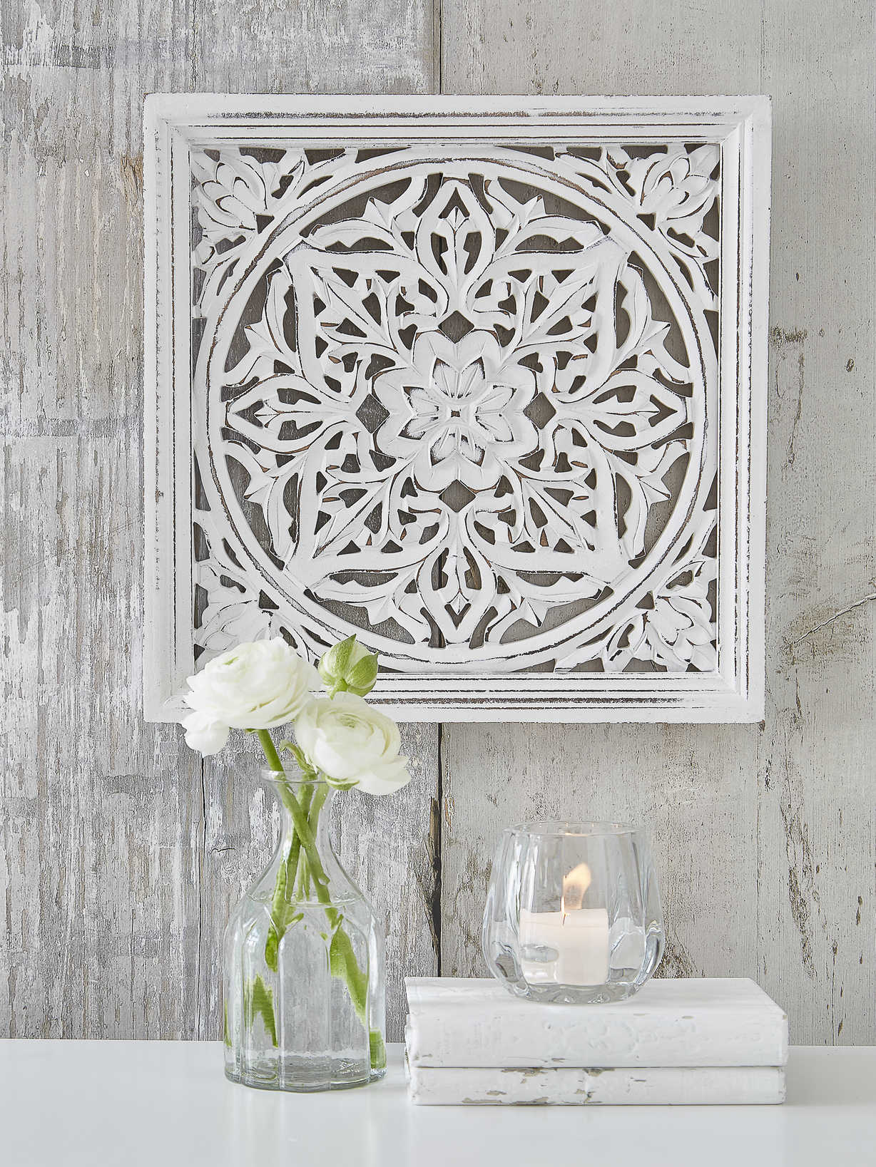 Carved Wall Panel Mia White Carved Wall Panels