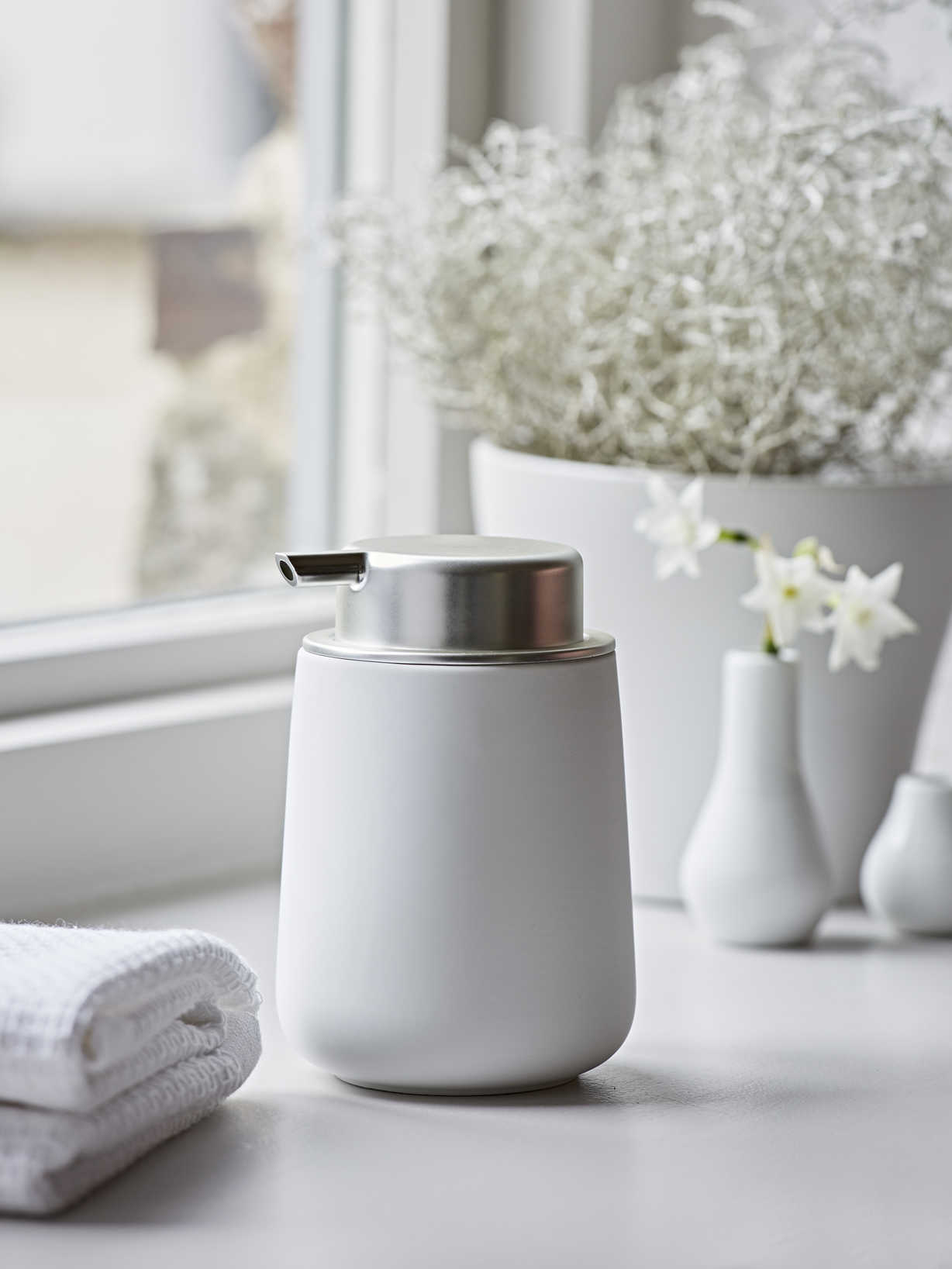 Nordic House White Soap Dispenser