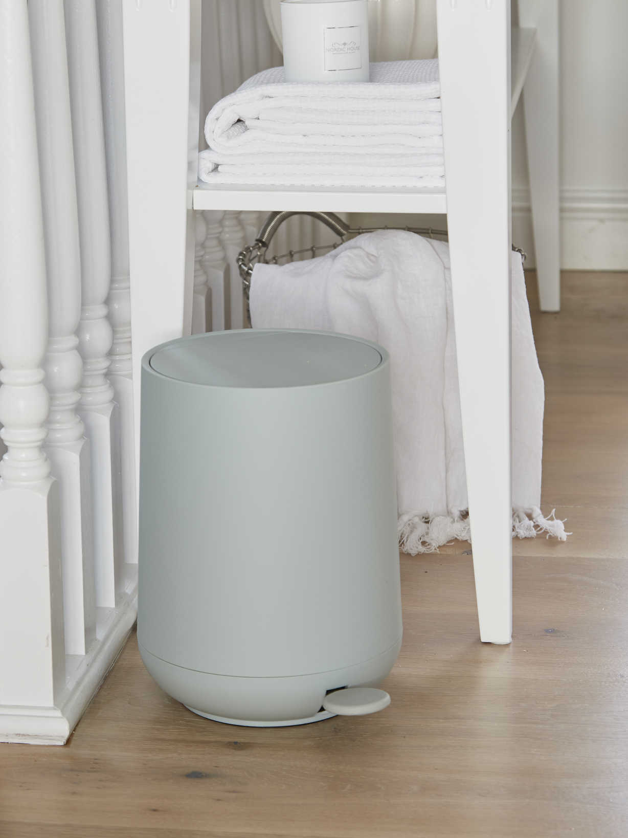 Nordic House Soft Closing Mint Pedal Bin