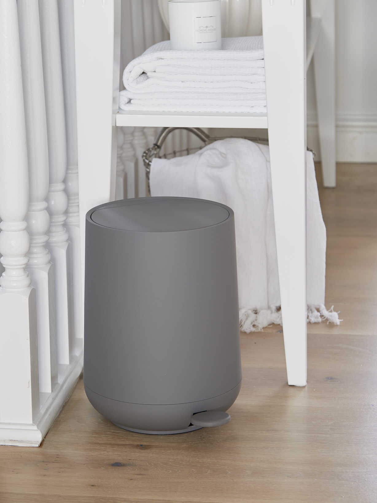 Nordic House Soft Closing Grey Pedal Bin