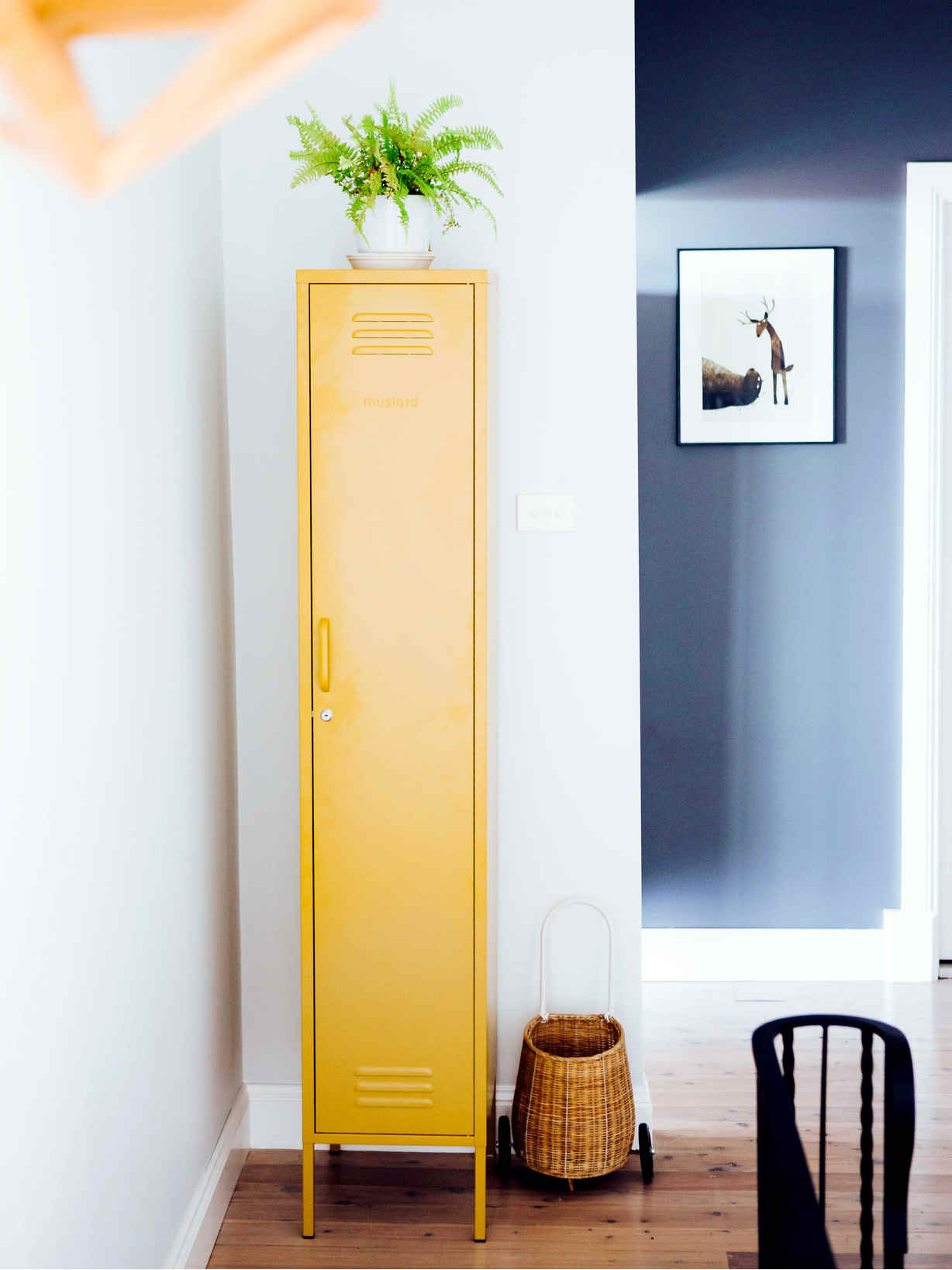 Nordic House Tall Loft Style Lockers - Mustard
