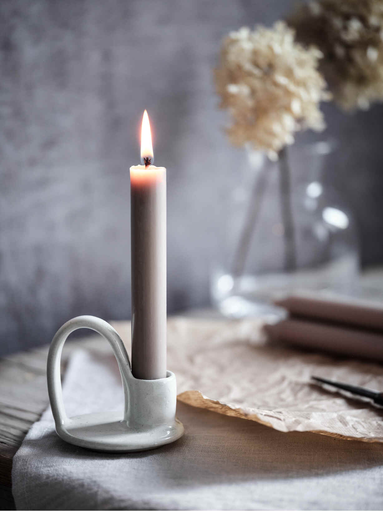 Nordic House Dillie Stoneware Candle Holder