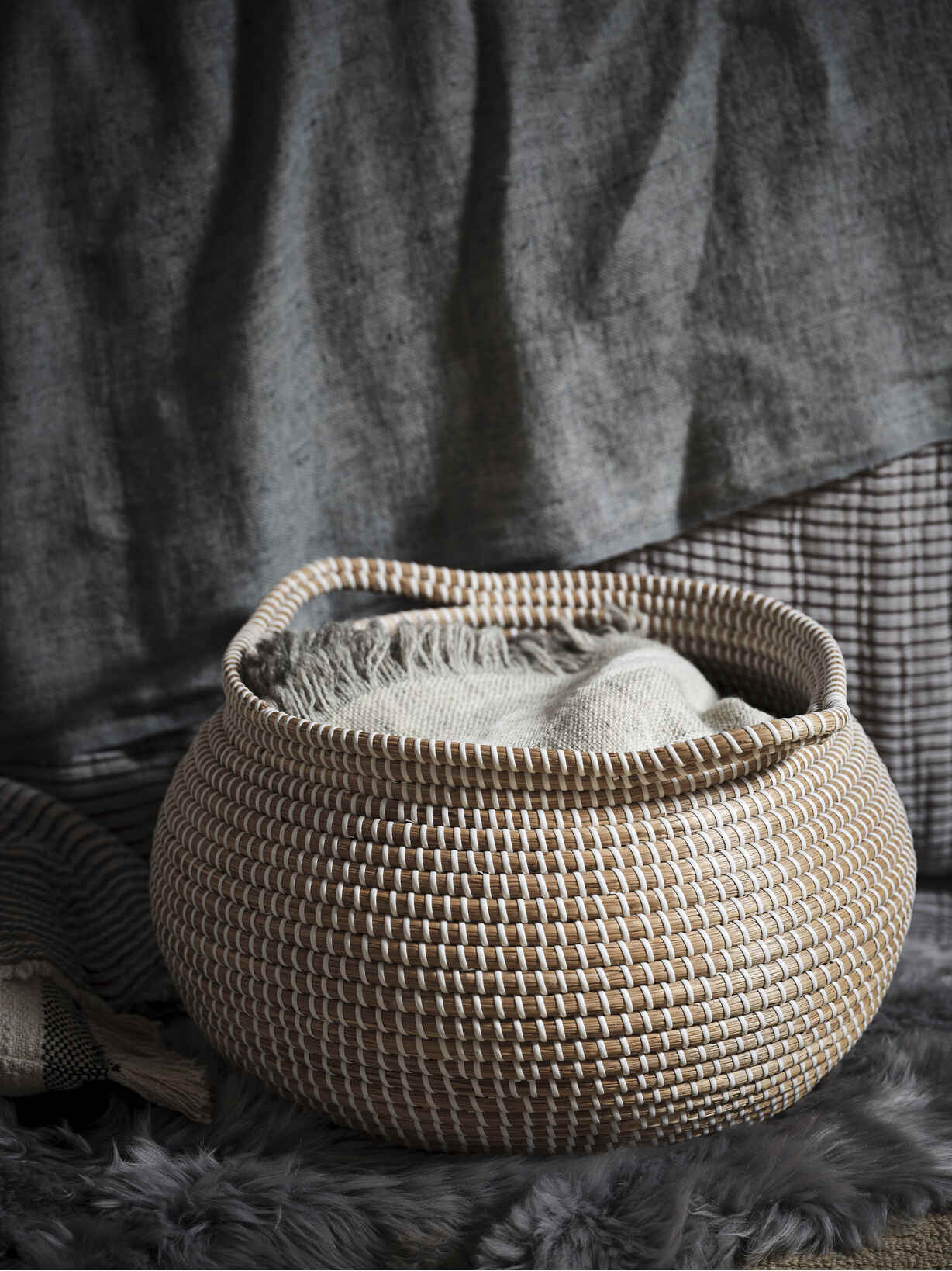 Nordic House Stora Seagrass Basket