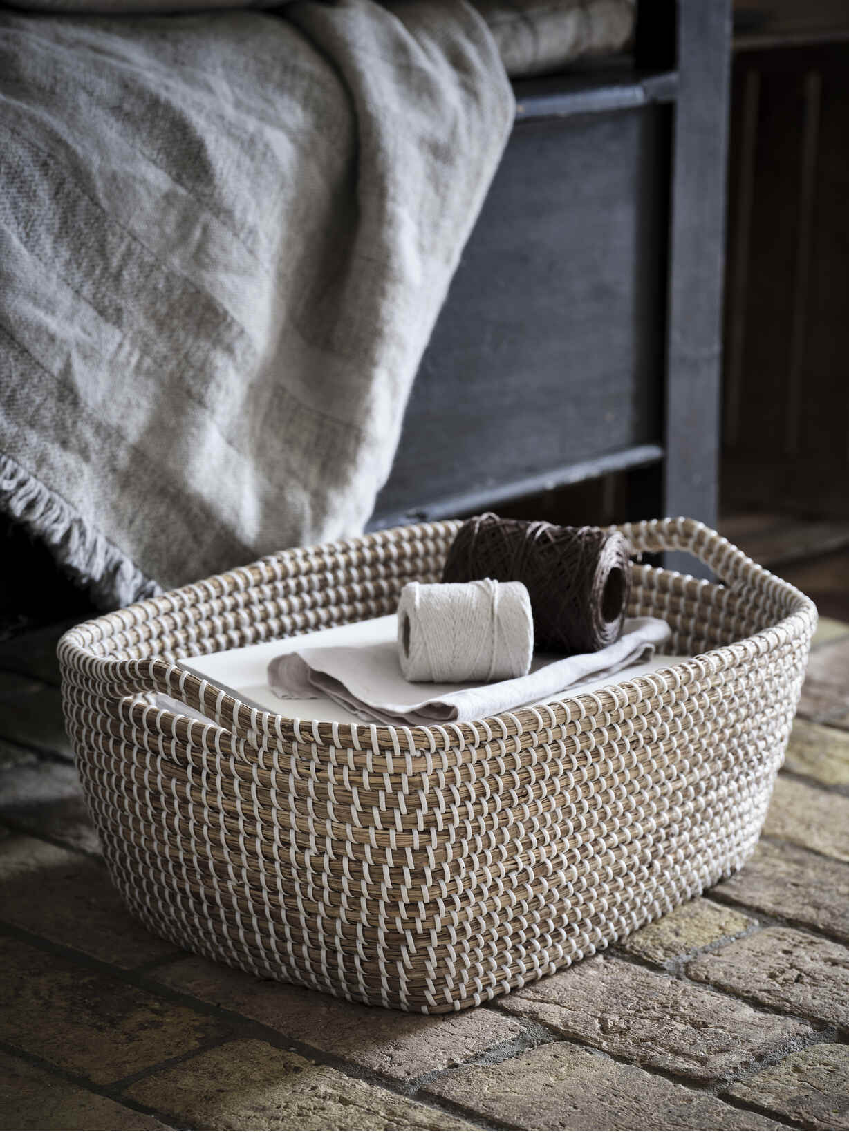 Nordic House Rectangular Seagrass Basket