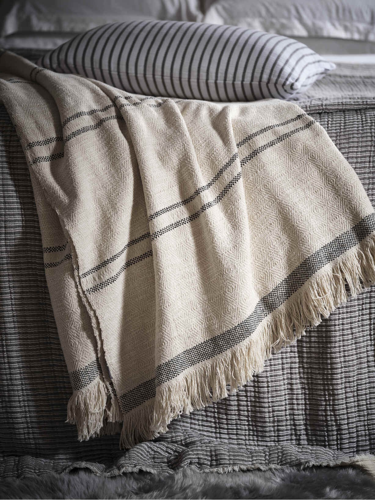 Nordic House Supersoft Washed Cotton Throw