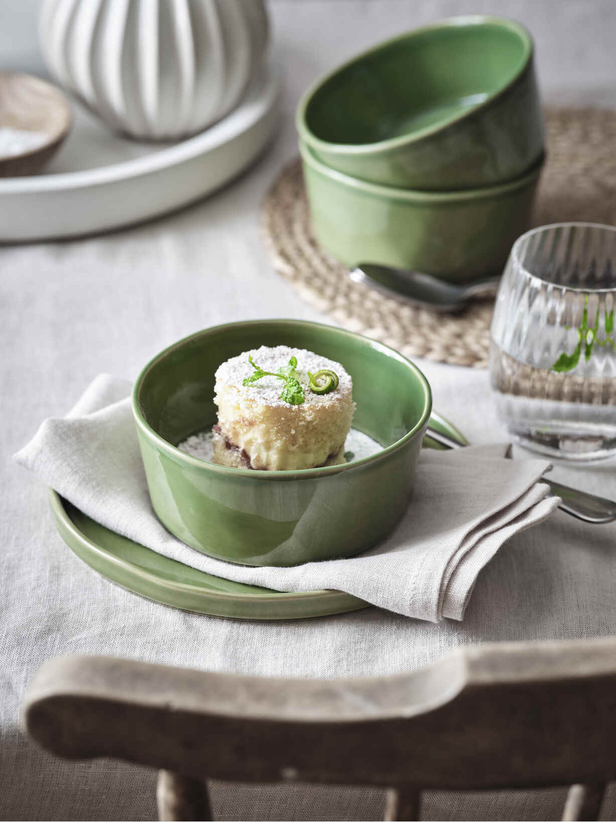 Nordic House Fresh Green Cereal Bowl