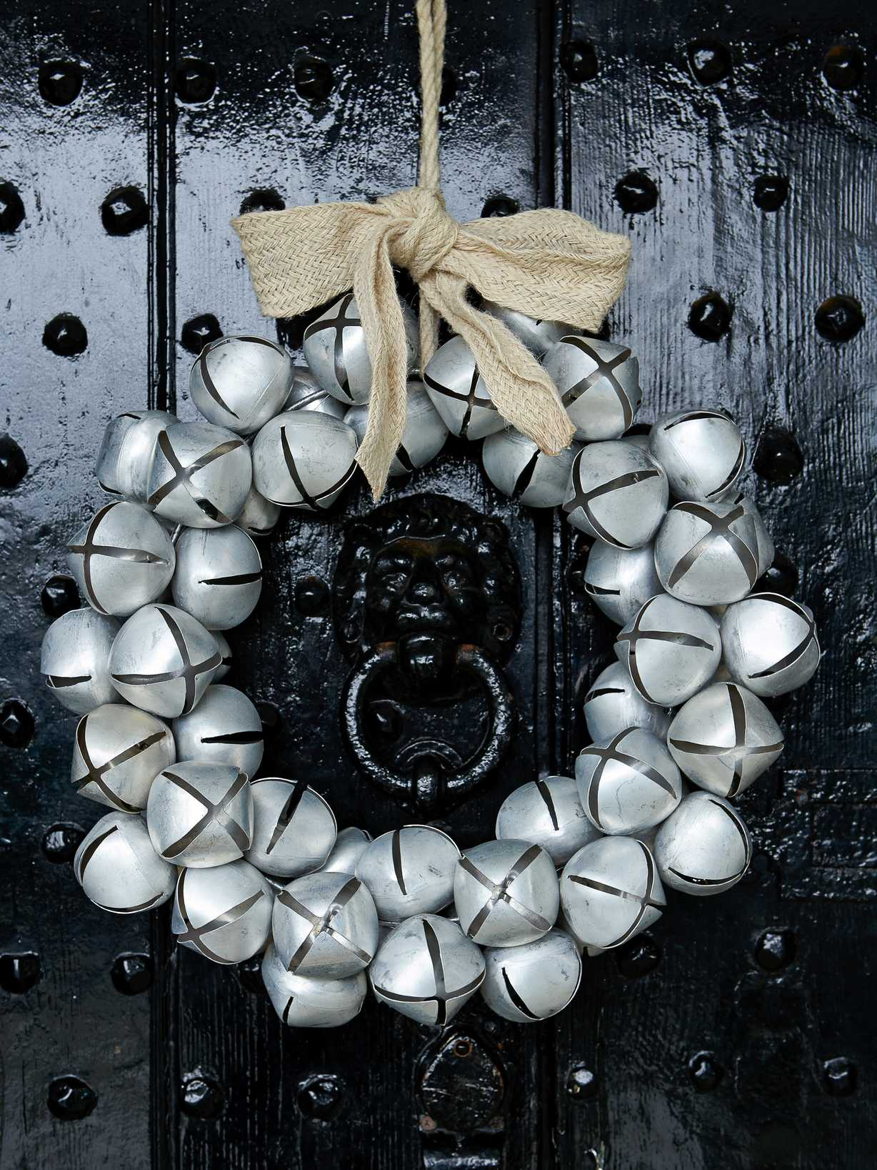 Nordic House Silver Bell Wreath