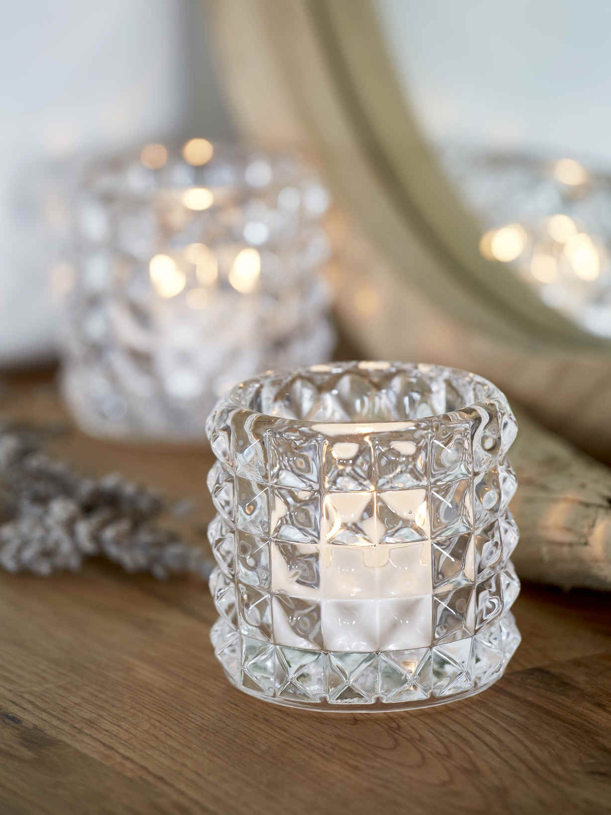 Nordic House Ines Glass Tealight Set