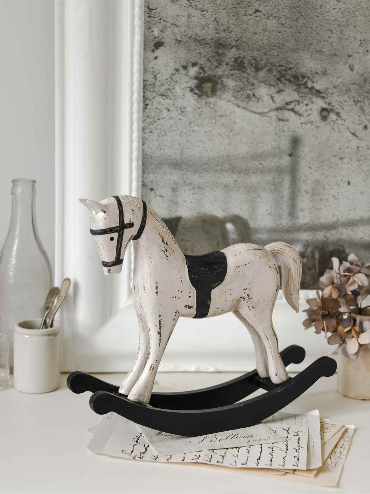Nordic House Vintage Swedish Rocking Horse