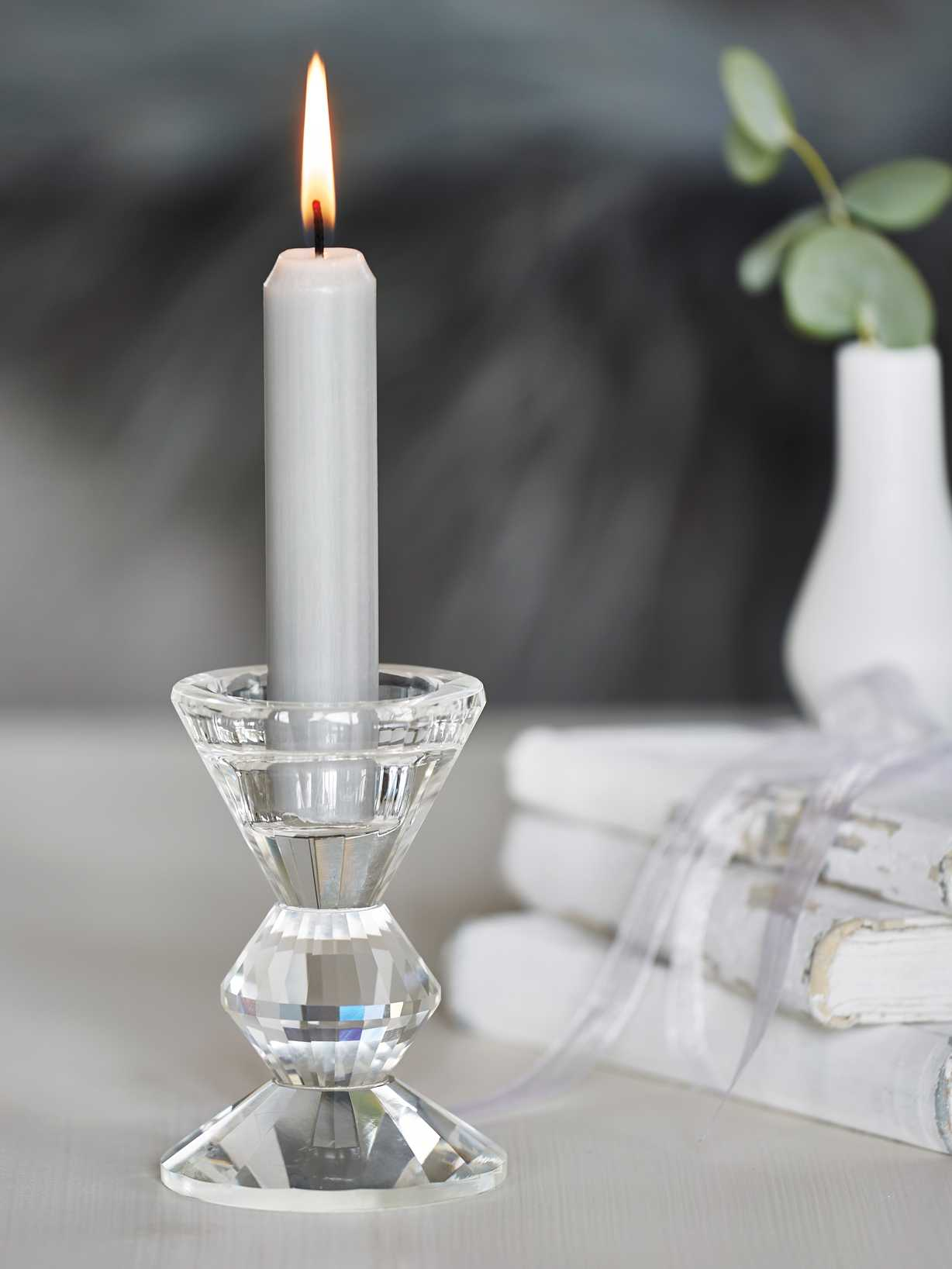 Nordic House Chic Glass Candlestick
