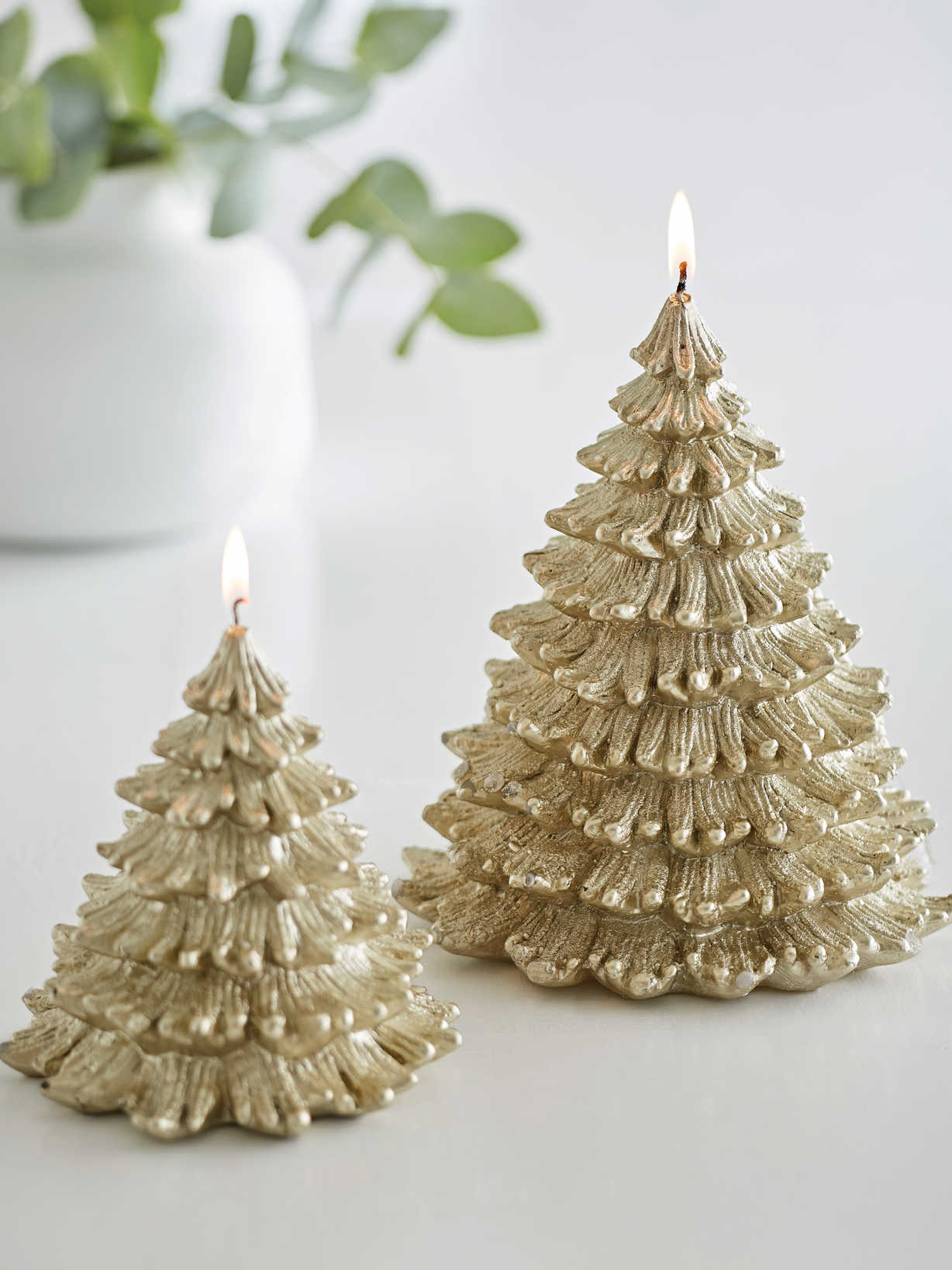 Nordic House Antique Gold Tree Candles