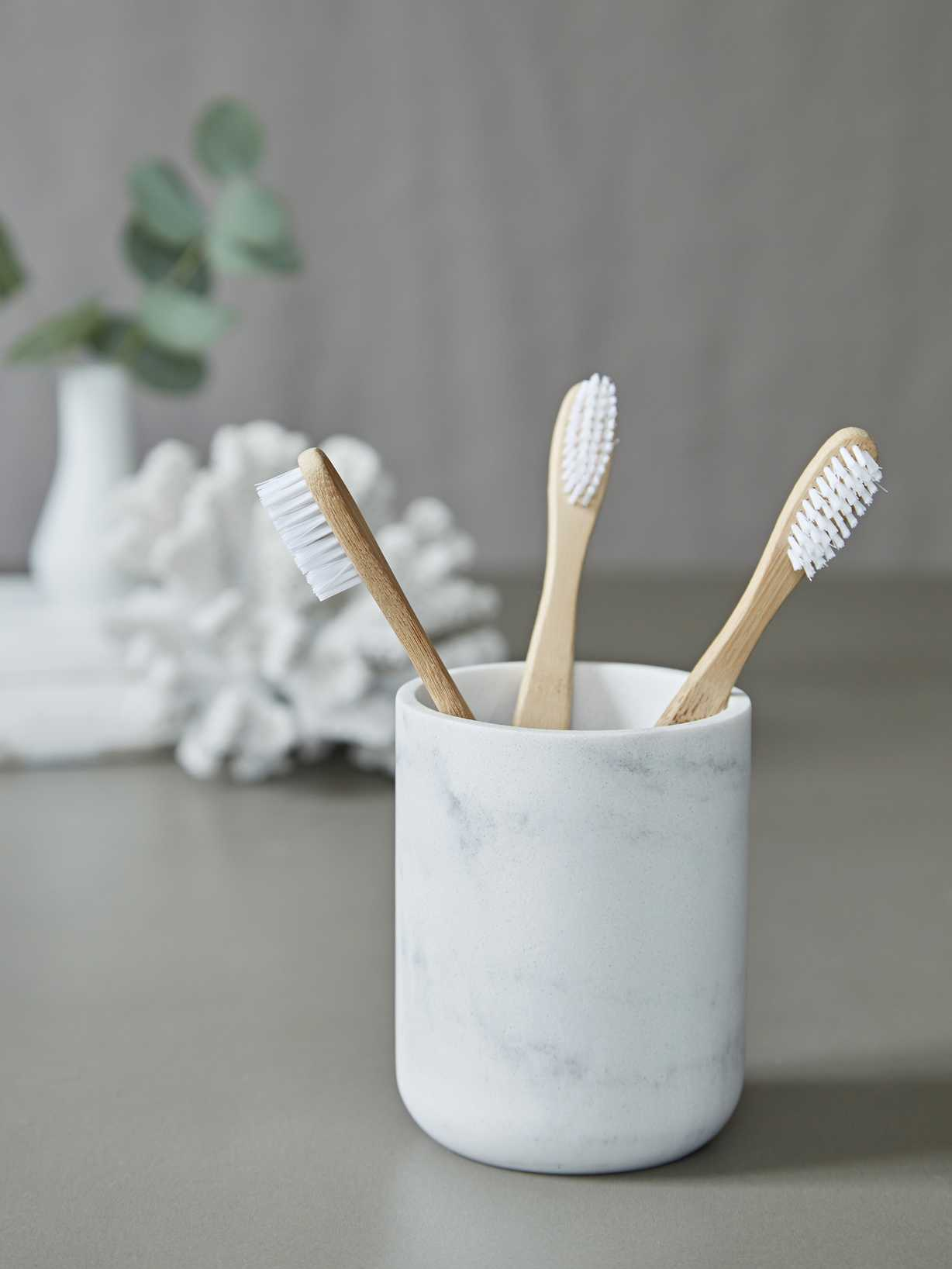 Nordic House Marble Effect Toothbrush Holder