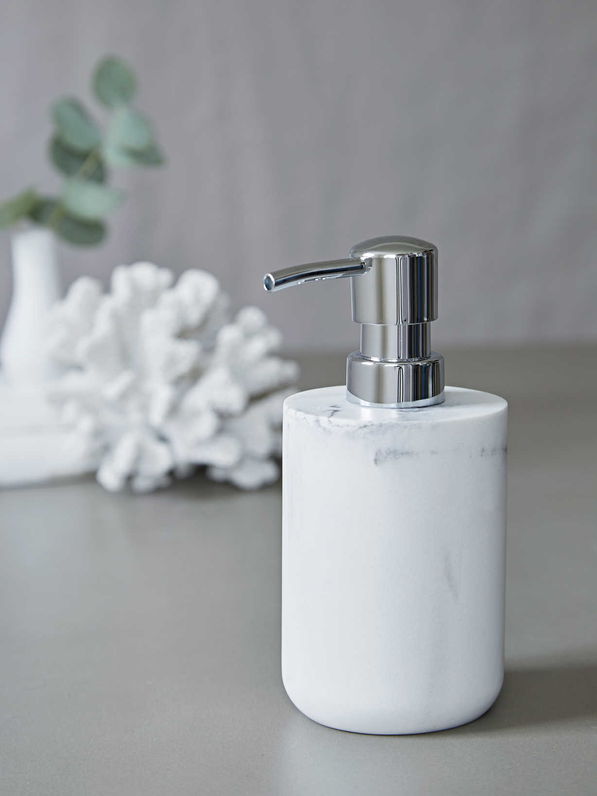 Nordic House Marble Effect Soap Dispenser