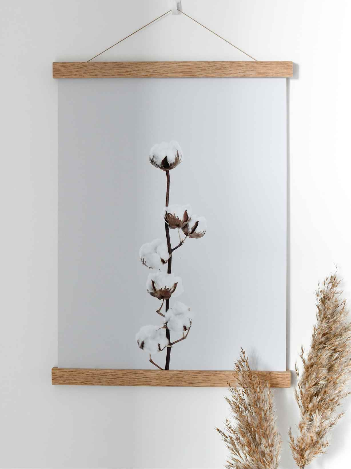 Nordic House Cotton Flower Bud Poster