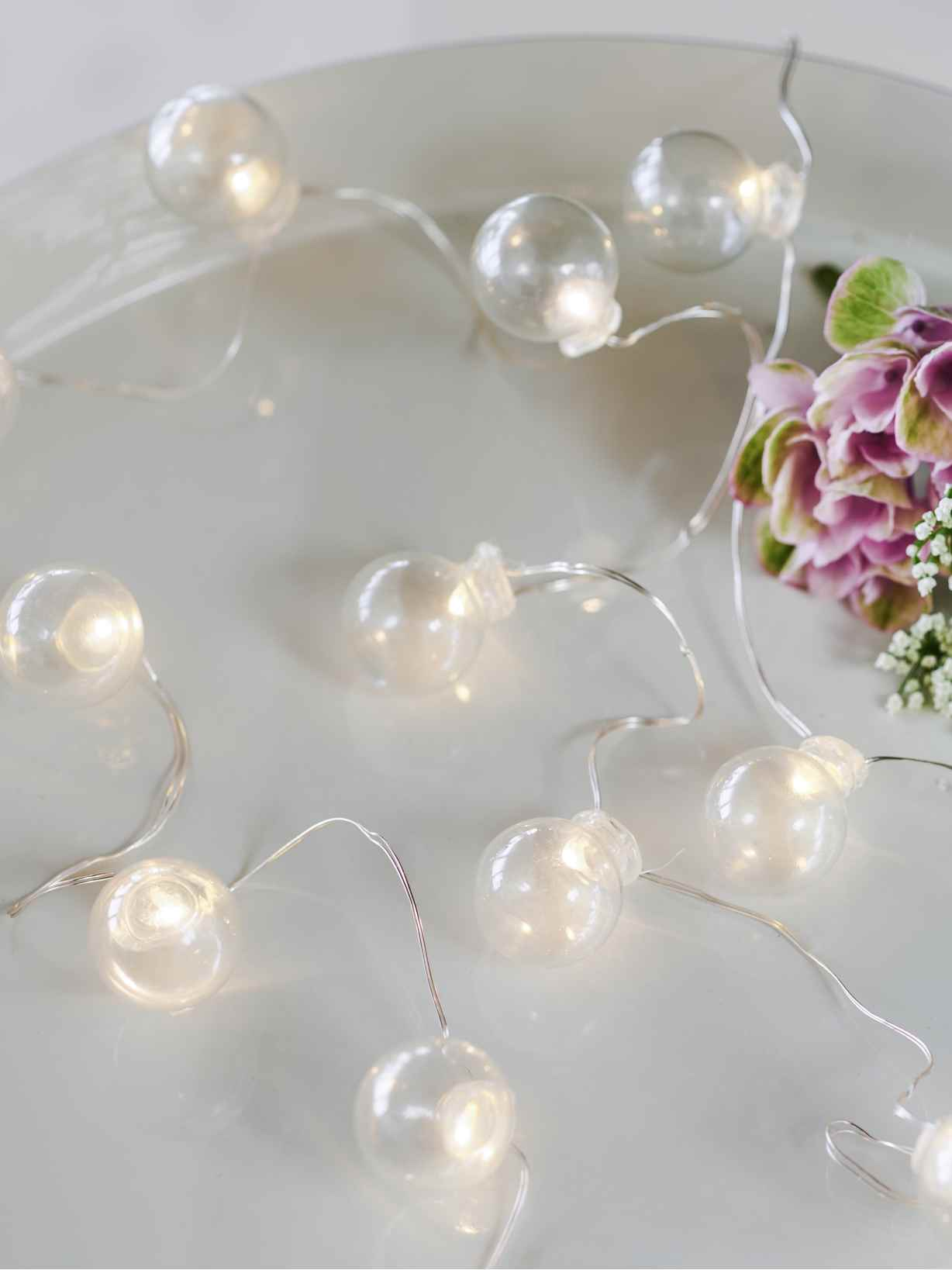 Nordic House Mini LED Glass String Lights
